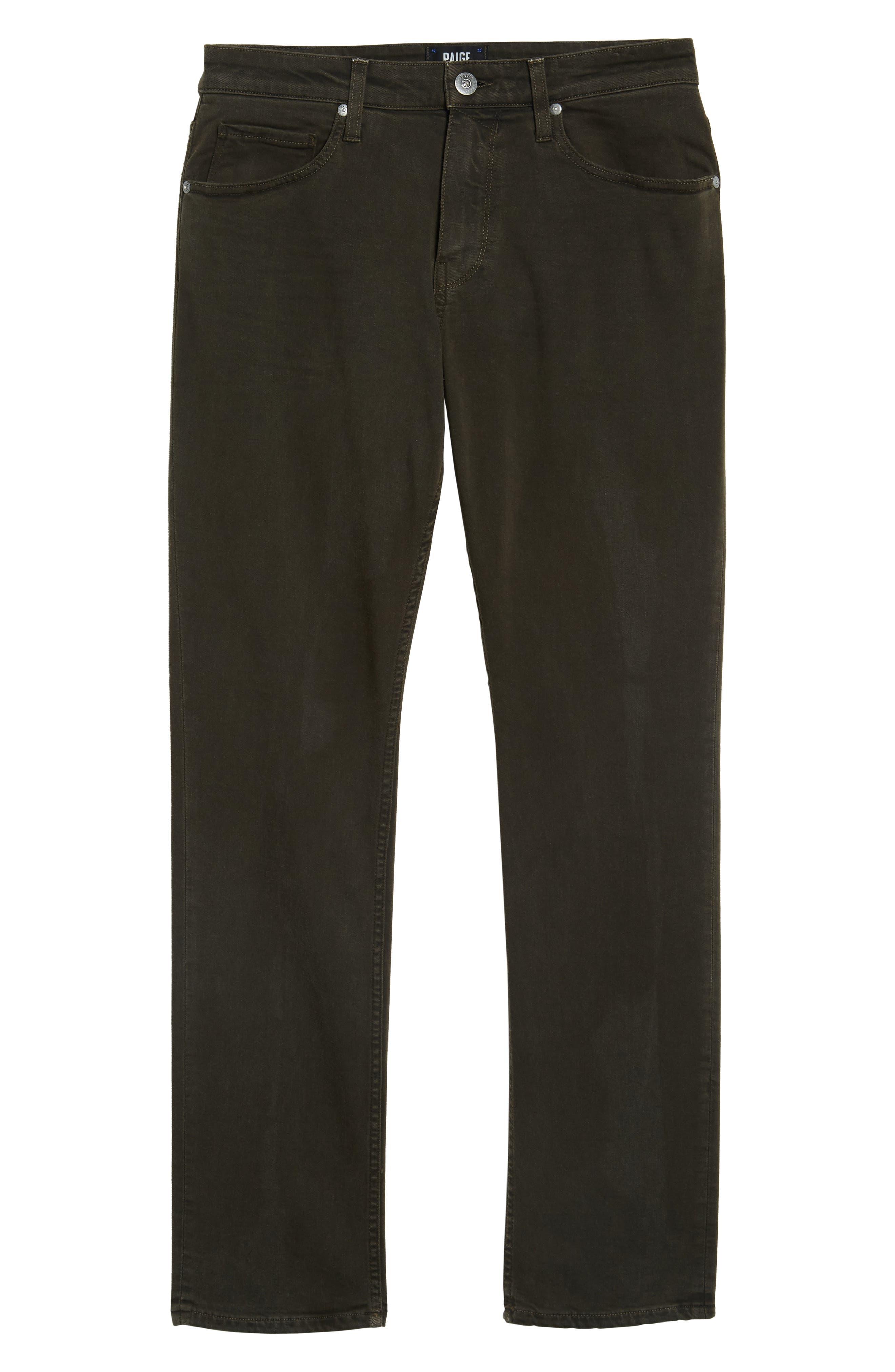 Alternate Image 6  - PAIGE Transcend - Federal Slim Straight Leg Jeans (Vintage Juniper)