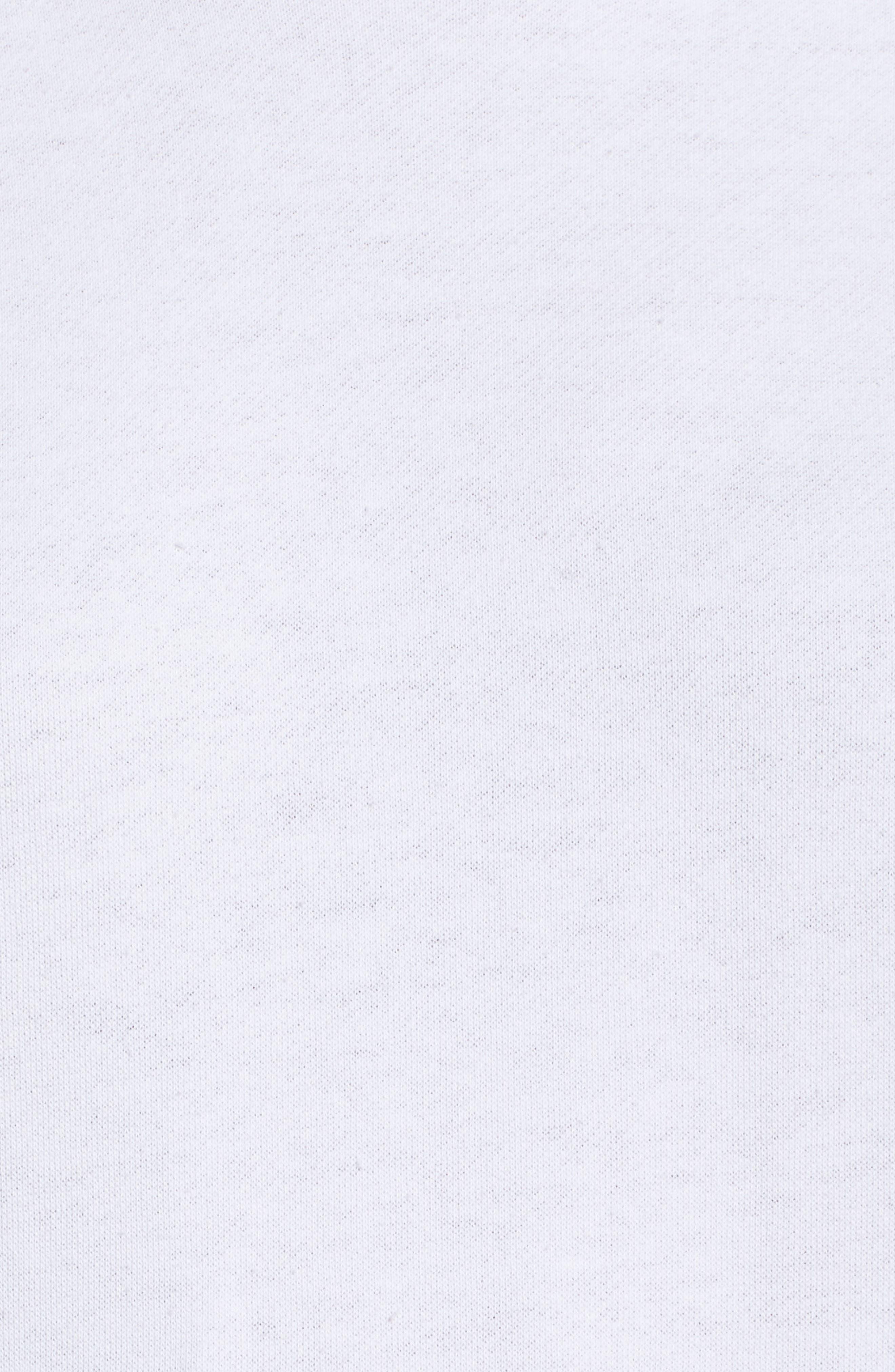 Good Hood Sweatshirt Dress,                             Alternate thumbnail 5, color,                             White