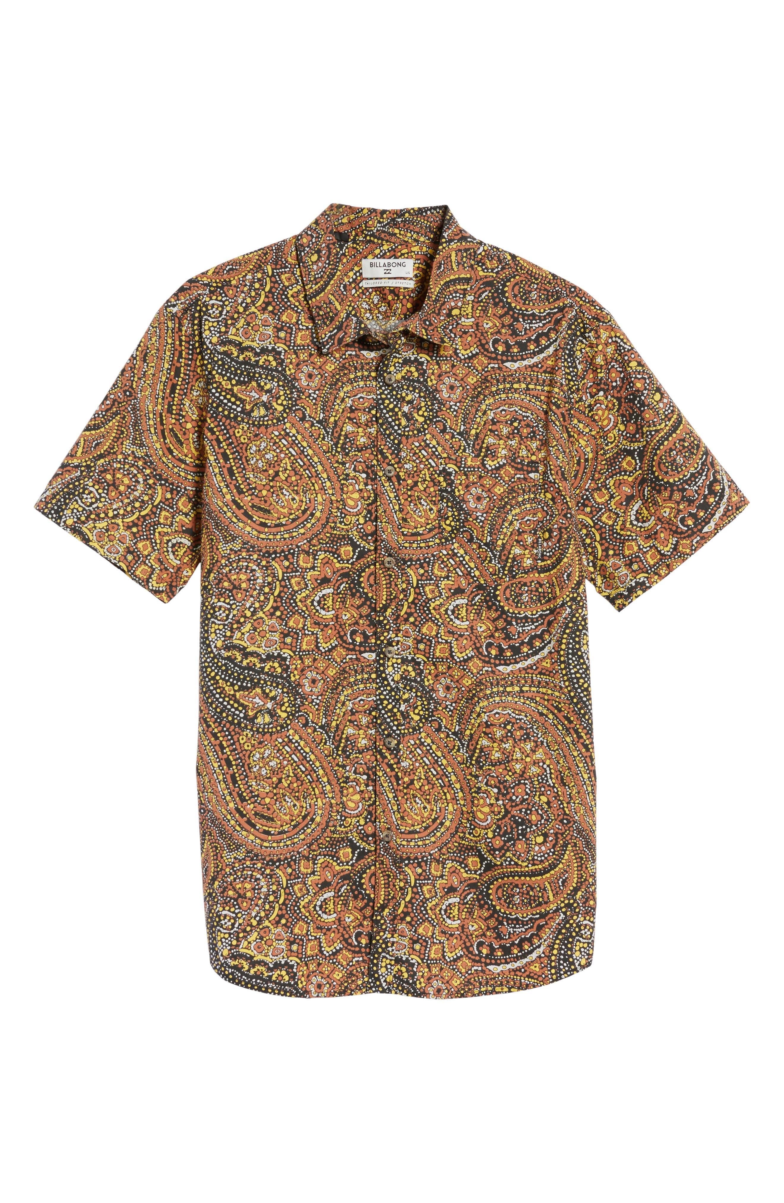 Sundays Woven Shirt,                             Alternate thumbnail 6, color,                             Brick