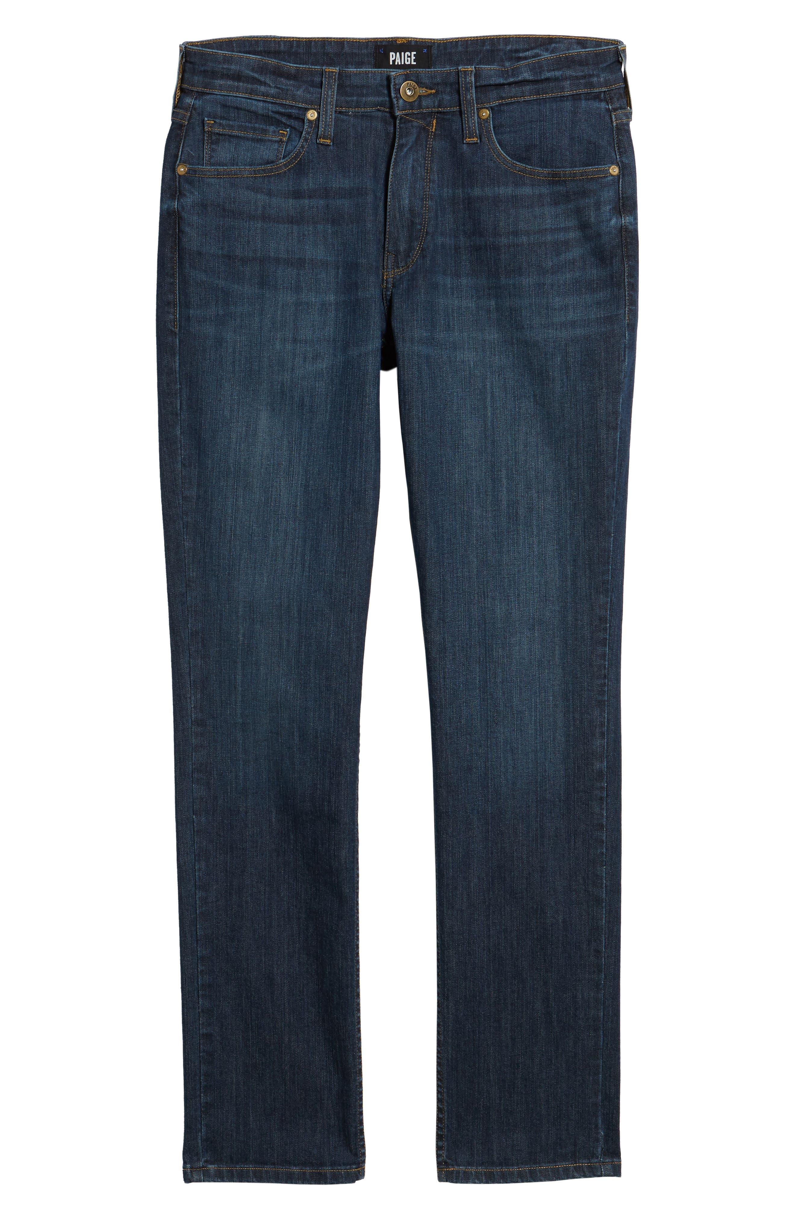 Alternate Image 6  - PAIGE Lennox Slim Fit Jeans (Ridge)