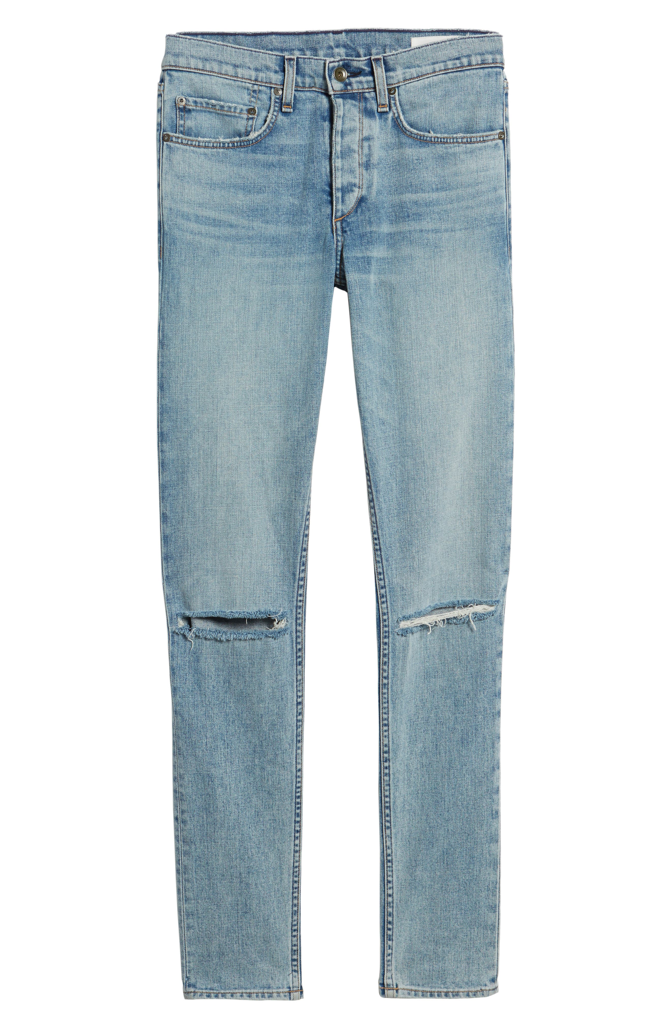 Fit 1 Skinny Fit Jeans,                             Alternate thumbnail 6, color,                             Jameson With Holes
