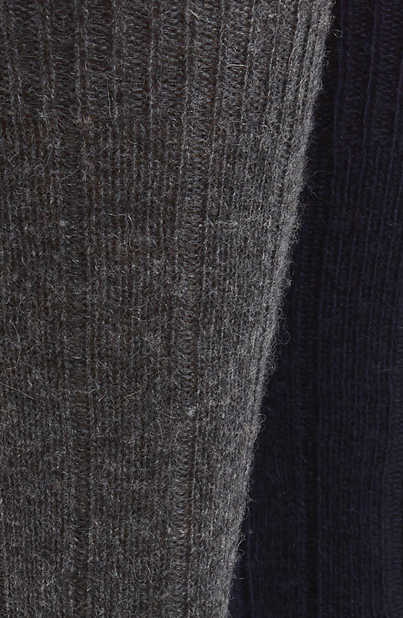 2-Pack Cashmere Blend Socks Box Set,                             Alternate thumbnail 2, color,                             Navy/ Charcoal