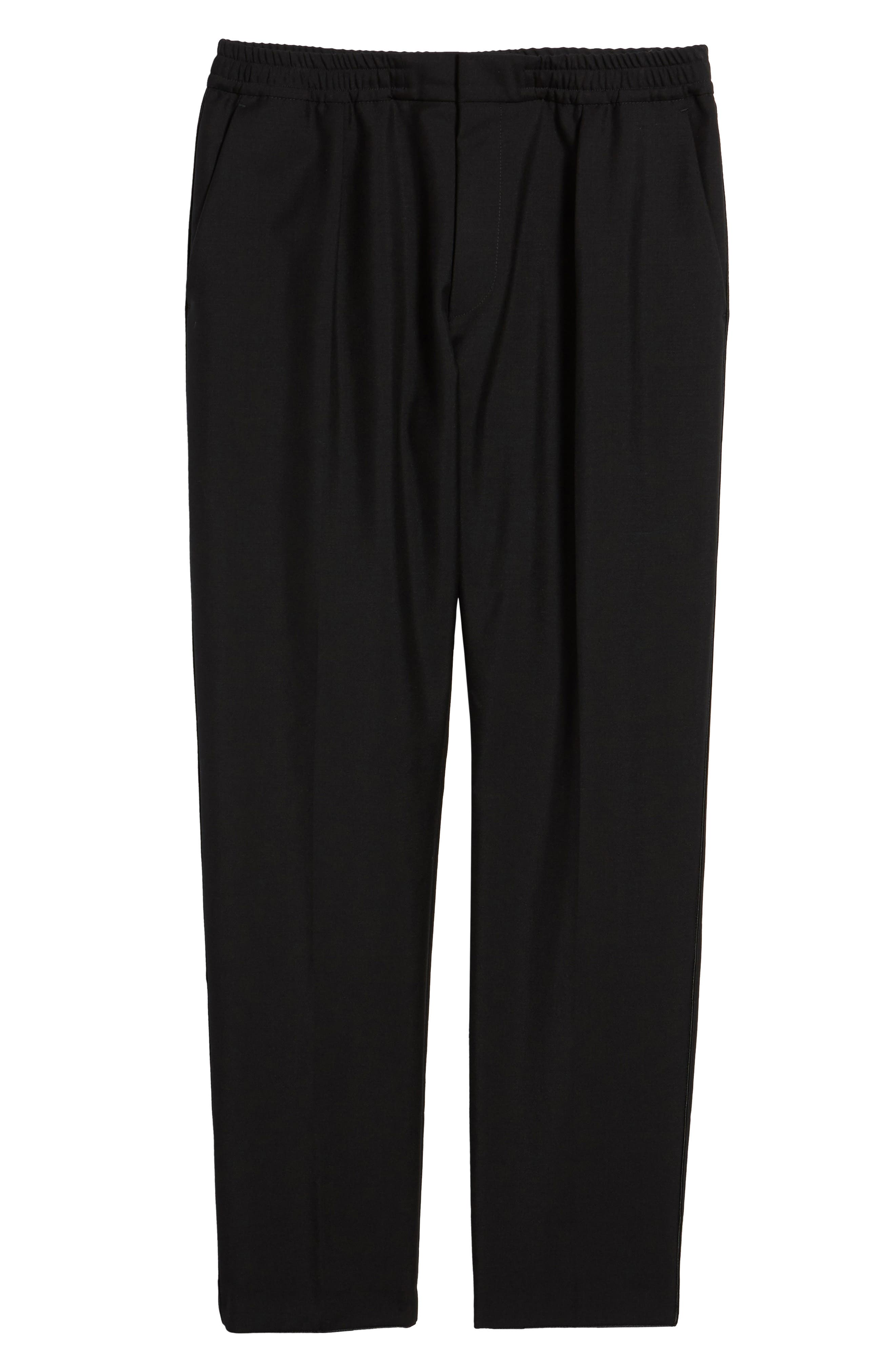 Alternate Image 6  - BOSS Payton Pleated Solid Wool & Mohair Jogger Trousers