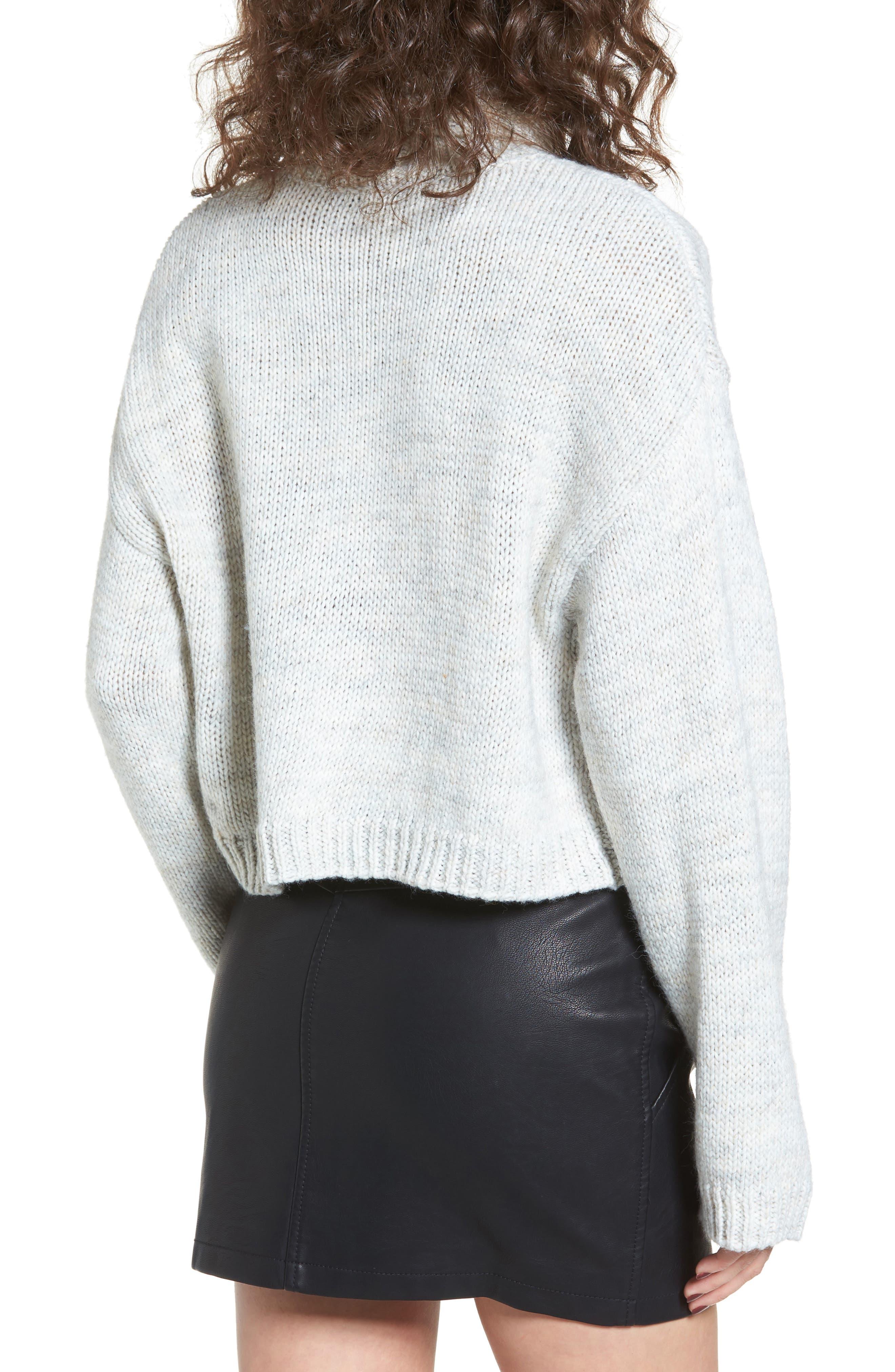 Skelter Turtleneck Sweater,                             Alternate thumbnail 2, color,                             Heather Grey