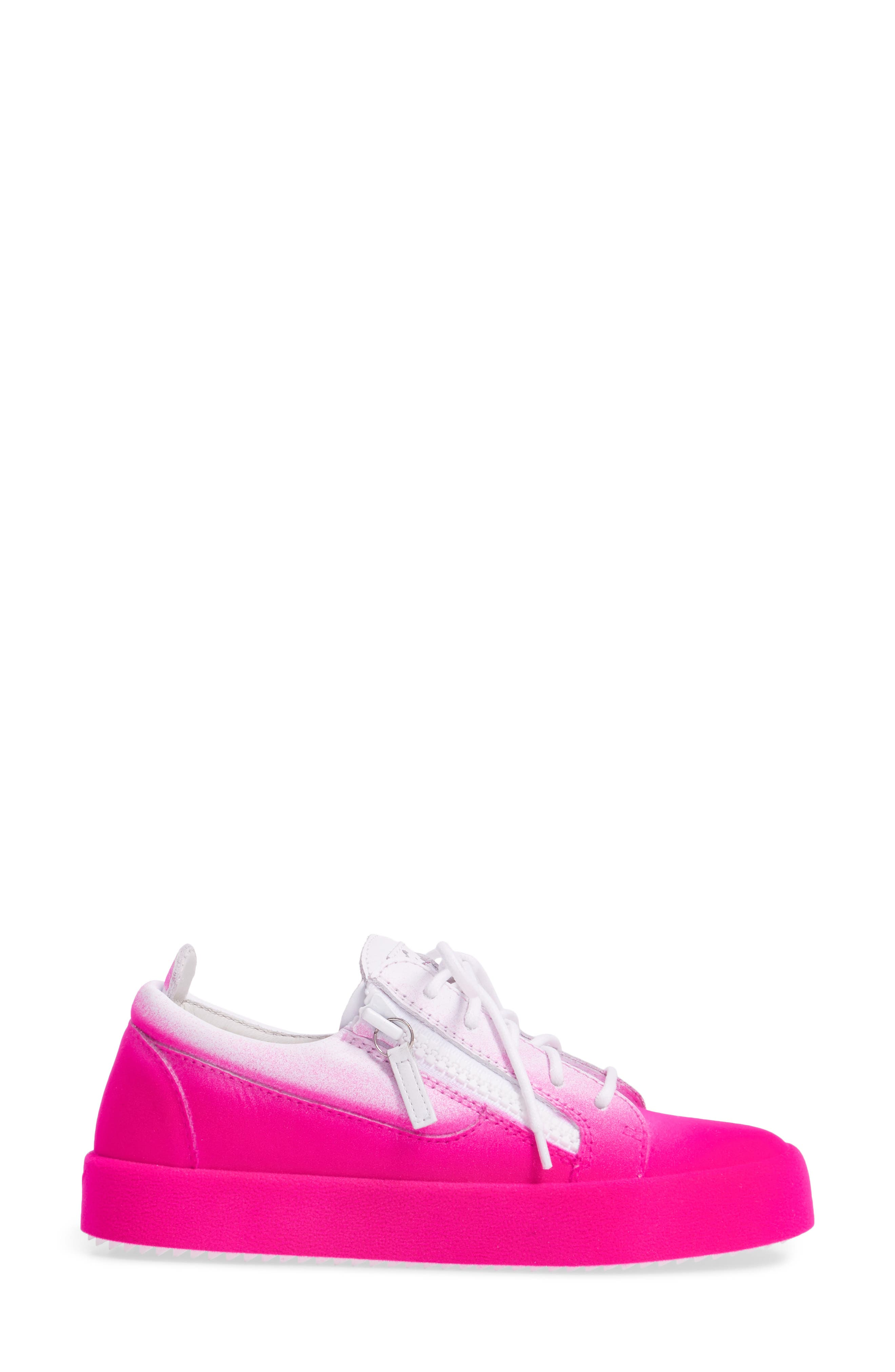 May London Low Top Sneaker,                             Alternate thumbnail 3, color,                             White/ Pink