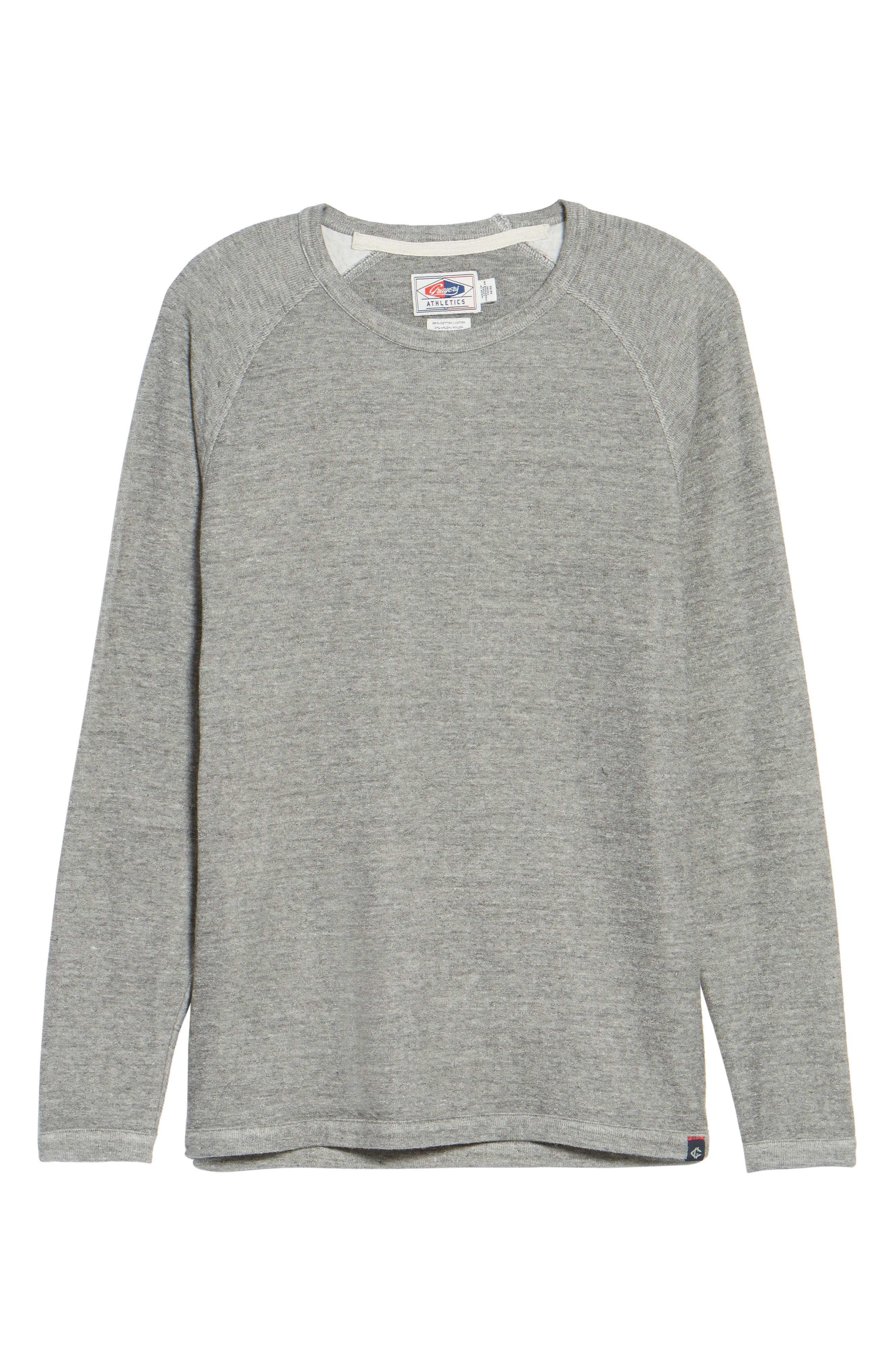 Jensen Double Cloth Crewneck Shirt,                             Alternate thumbnail 6, color,                             Grey