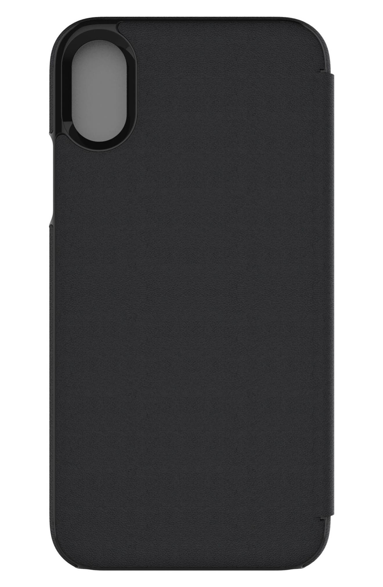 Privacy Folio iPhone X Case,                             Alternate thumbnail 6, color,                             Black Gunmetal