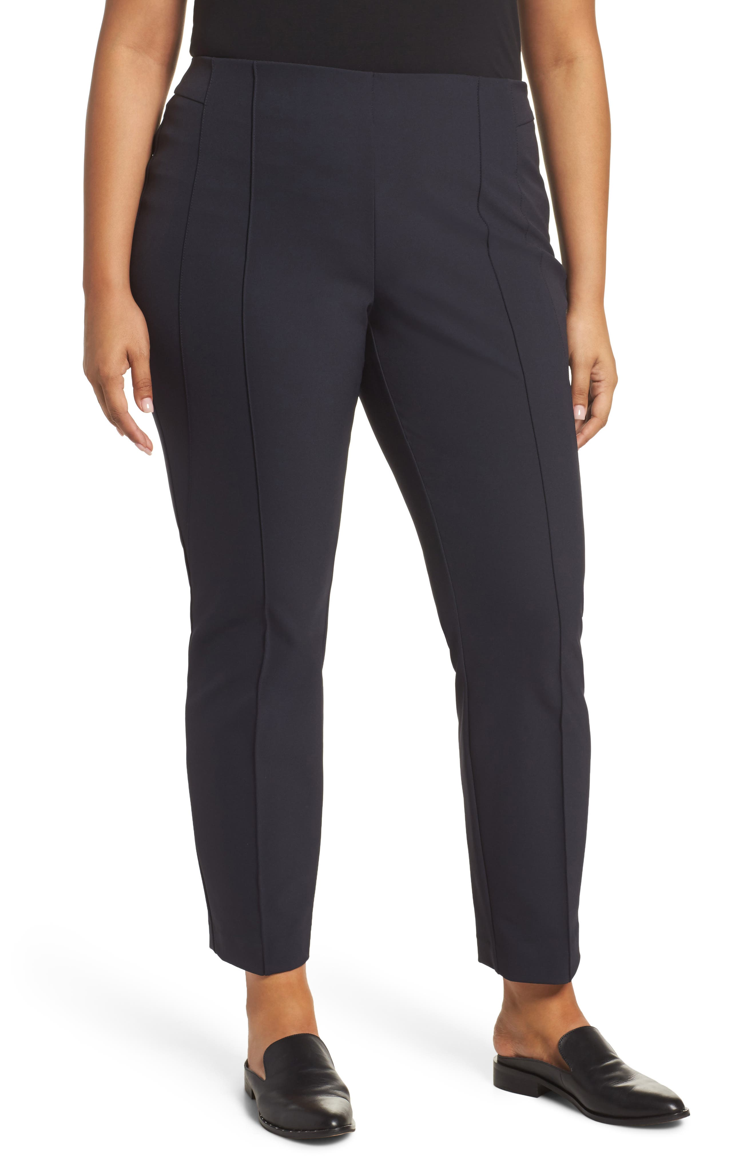 Lafayette 148 New York City Pintuck Slim Pants (Plus Size)
