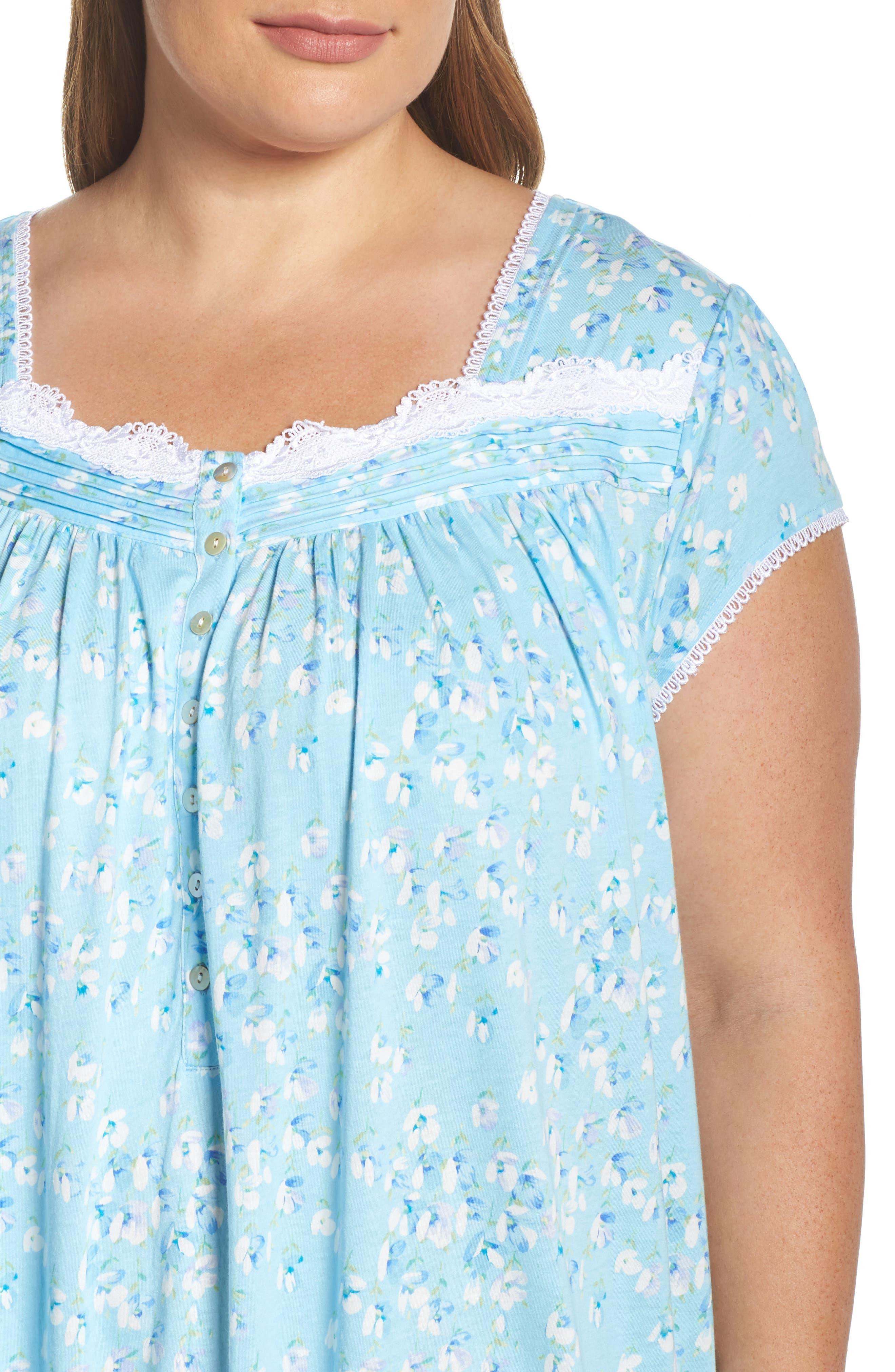 Waltz Nightgown,                             Alternate thumbnail 5, color,                             Light Sea Glass/ Multi Floral