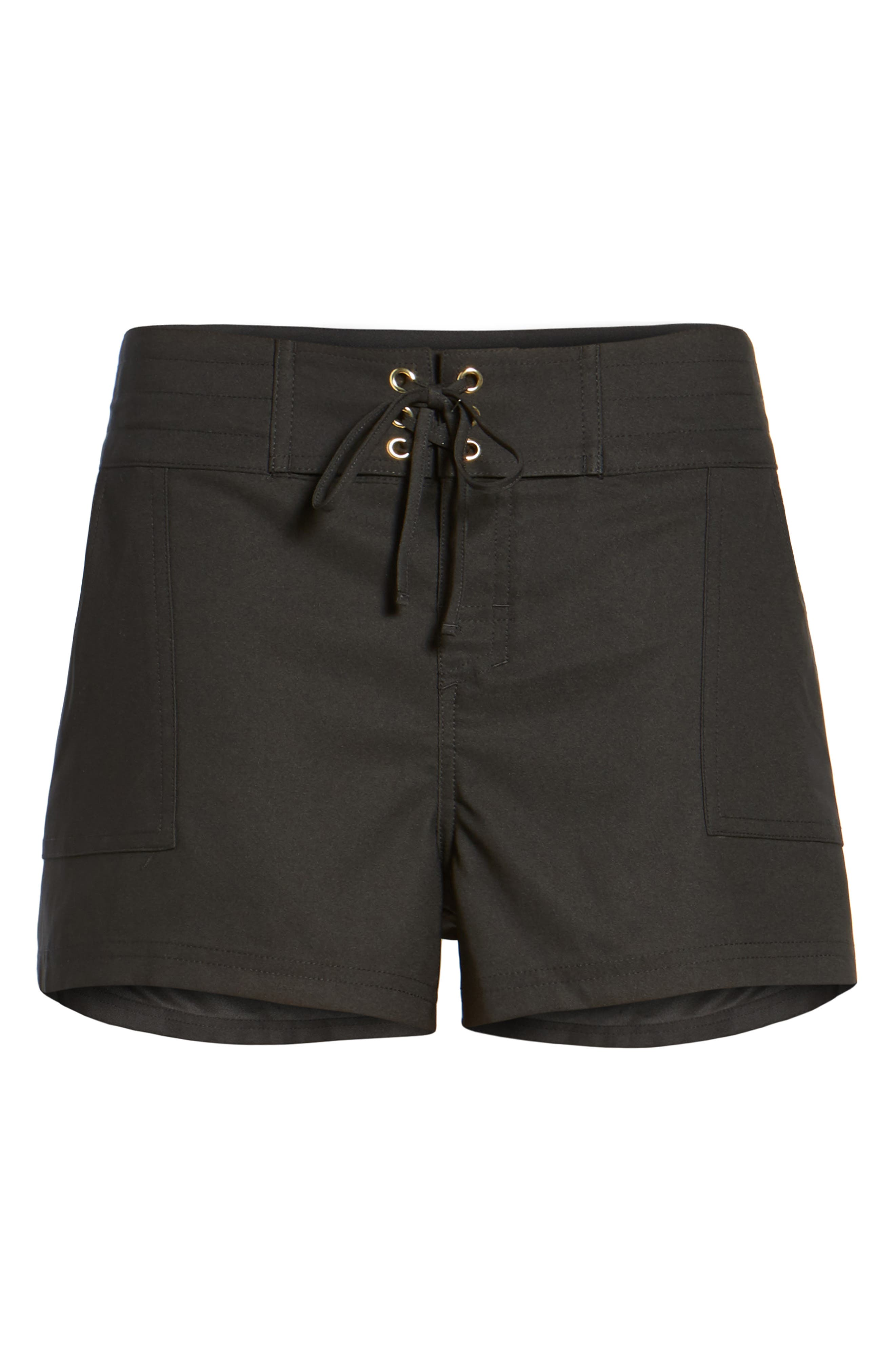 'Boardwalk' Shorts,                             Alternate thumbnail 4, color,                             Black