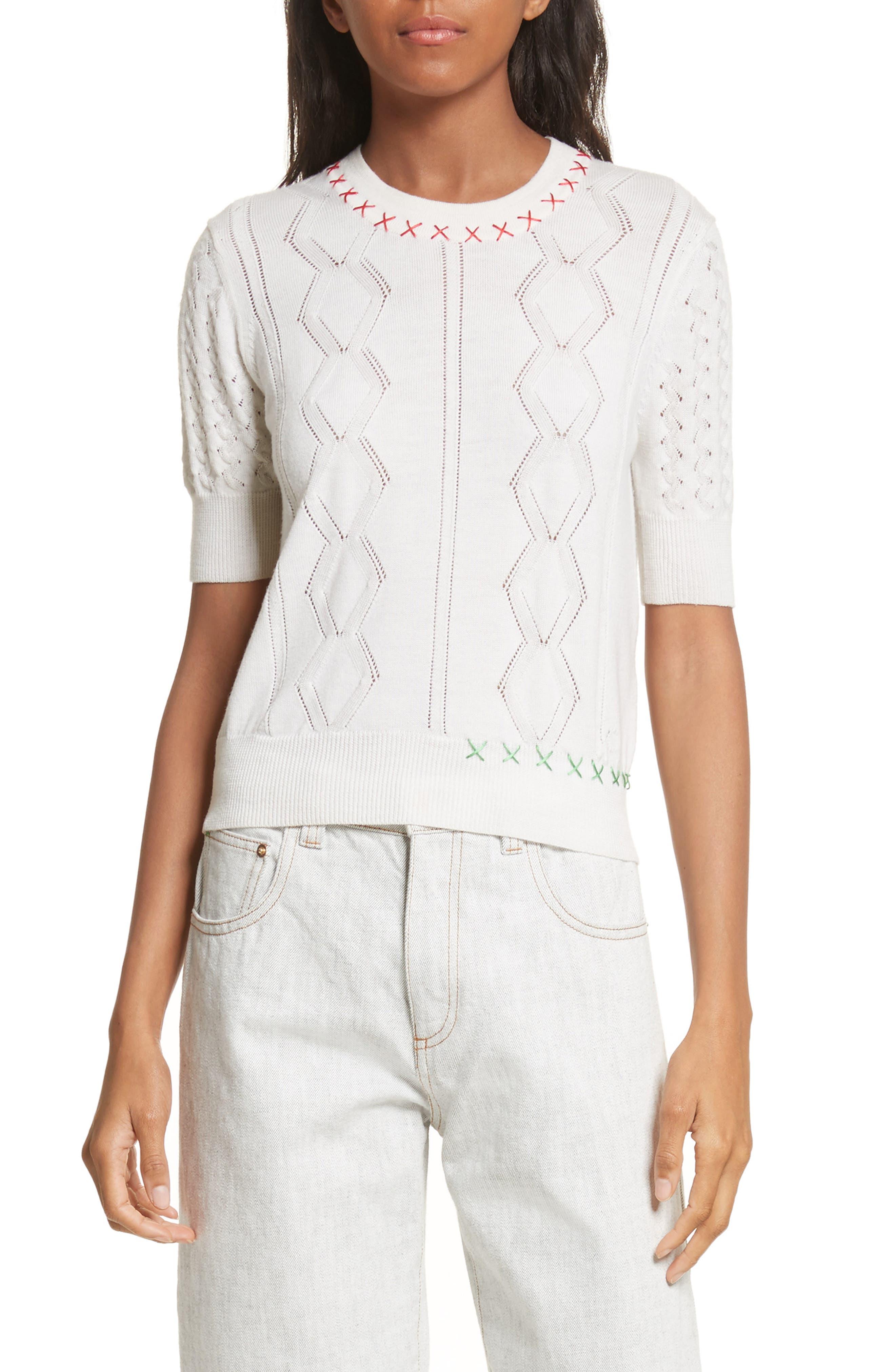 Wool Sweater,                         Main,                         color, Craie