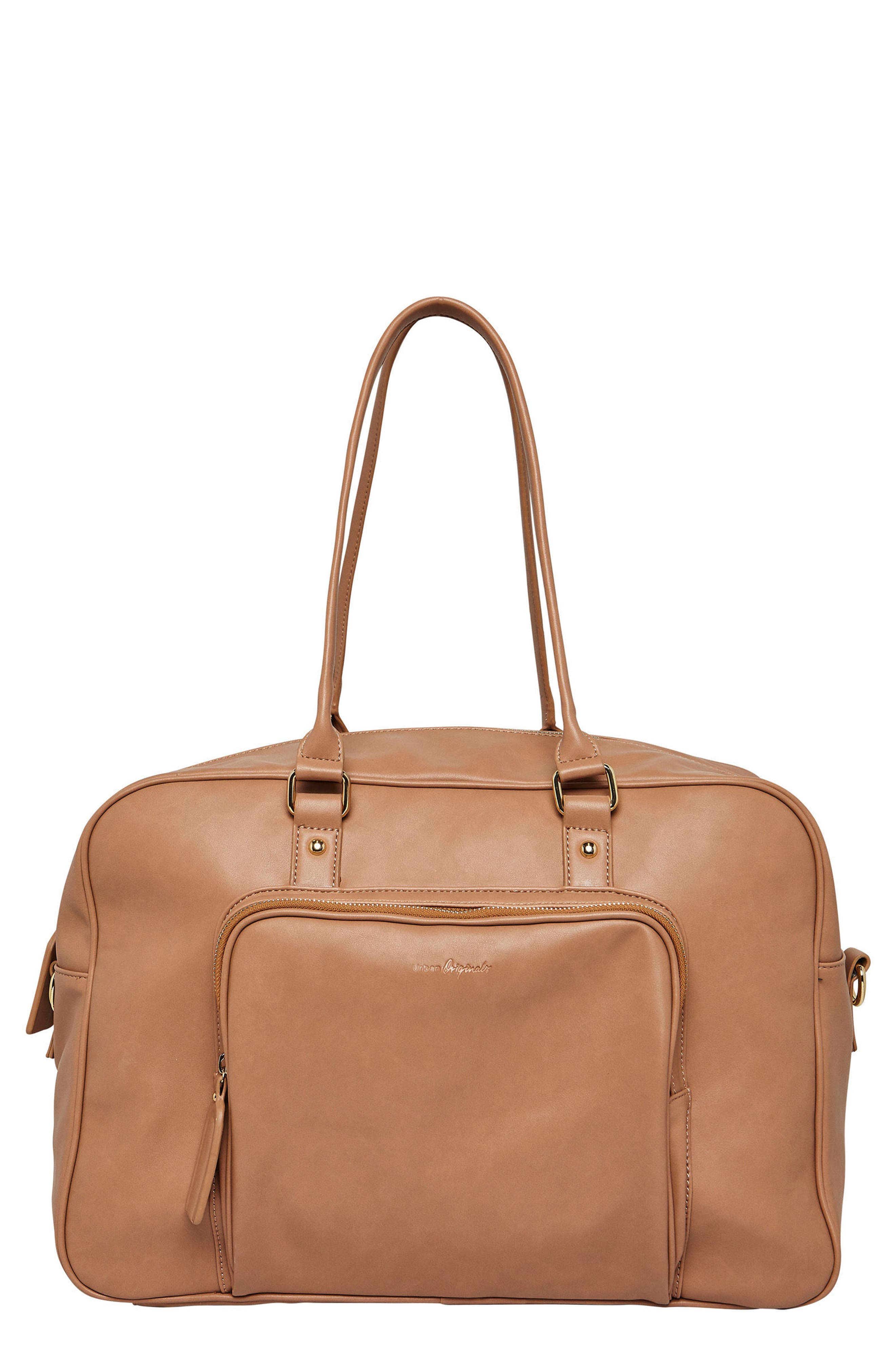 A Million Reasons Vegan Leather Tote,                         Main,                         color, Nude