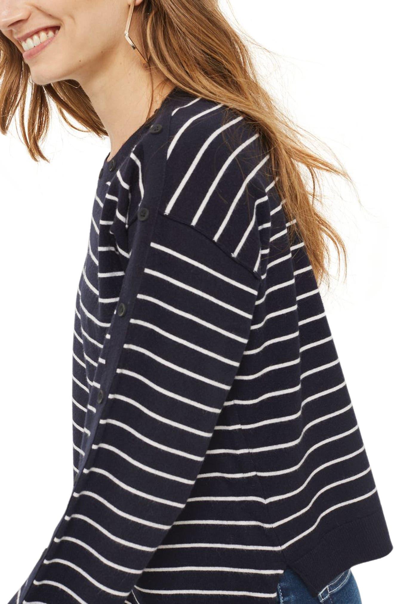 Alternate Image 3  - Topshop Asymmetrical Hem Sweater