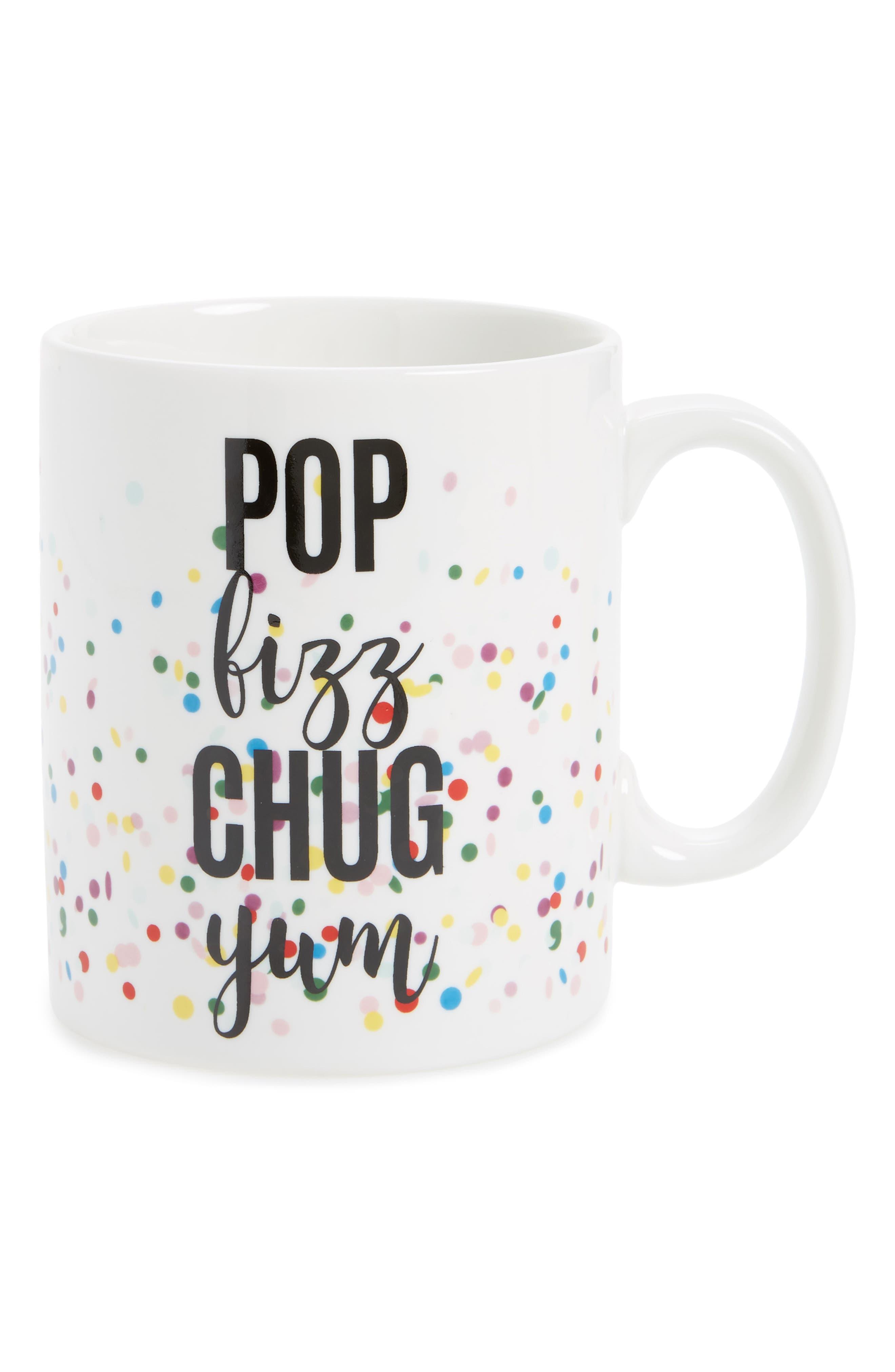 Oversize Confetti Mug,                         Main,                         color, White Multi