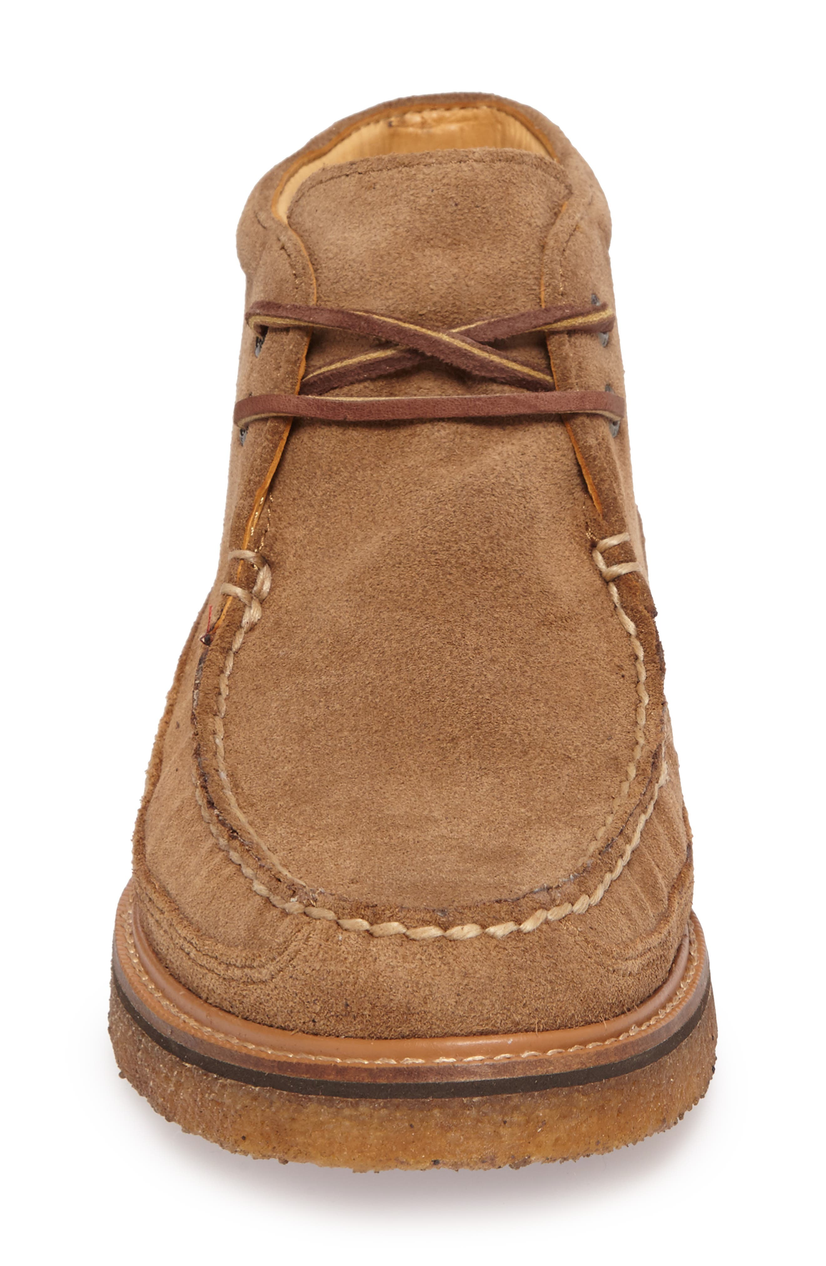 Gold Cup Chukka Boot,                             Alternate thumbnail 4, color,                             Caramel Suede