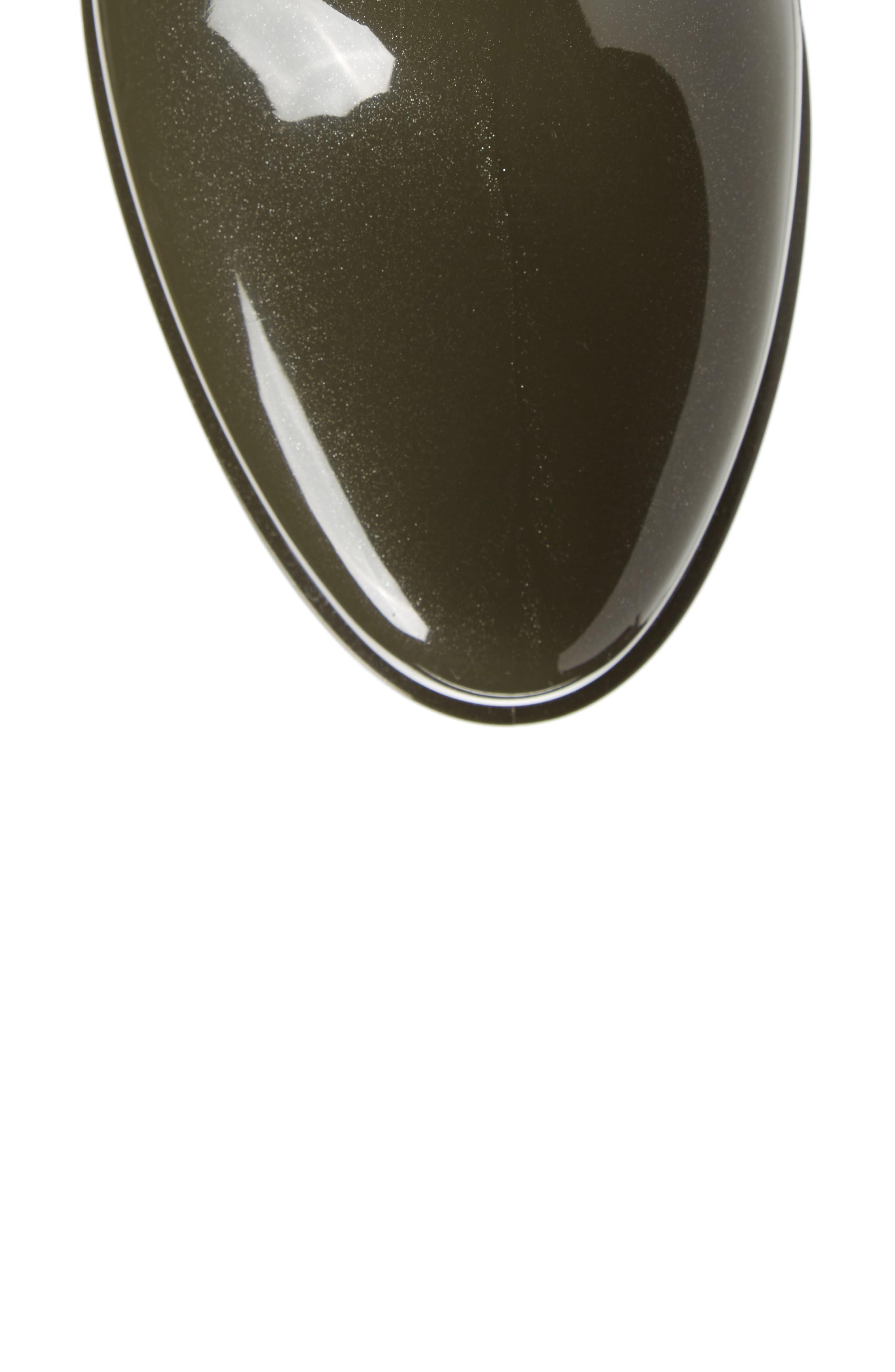 Comfy Waterproof Chelsea Boot,                             Alternate thumbnail 5, color,                             Metal Green Gloss