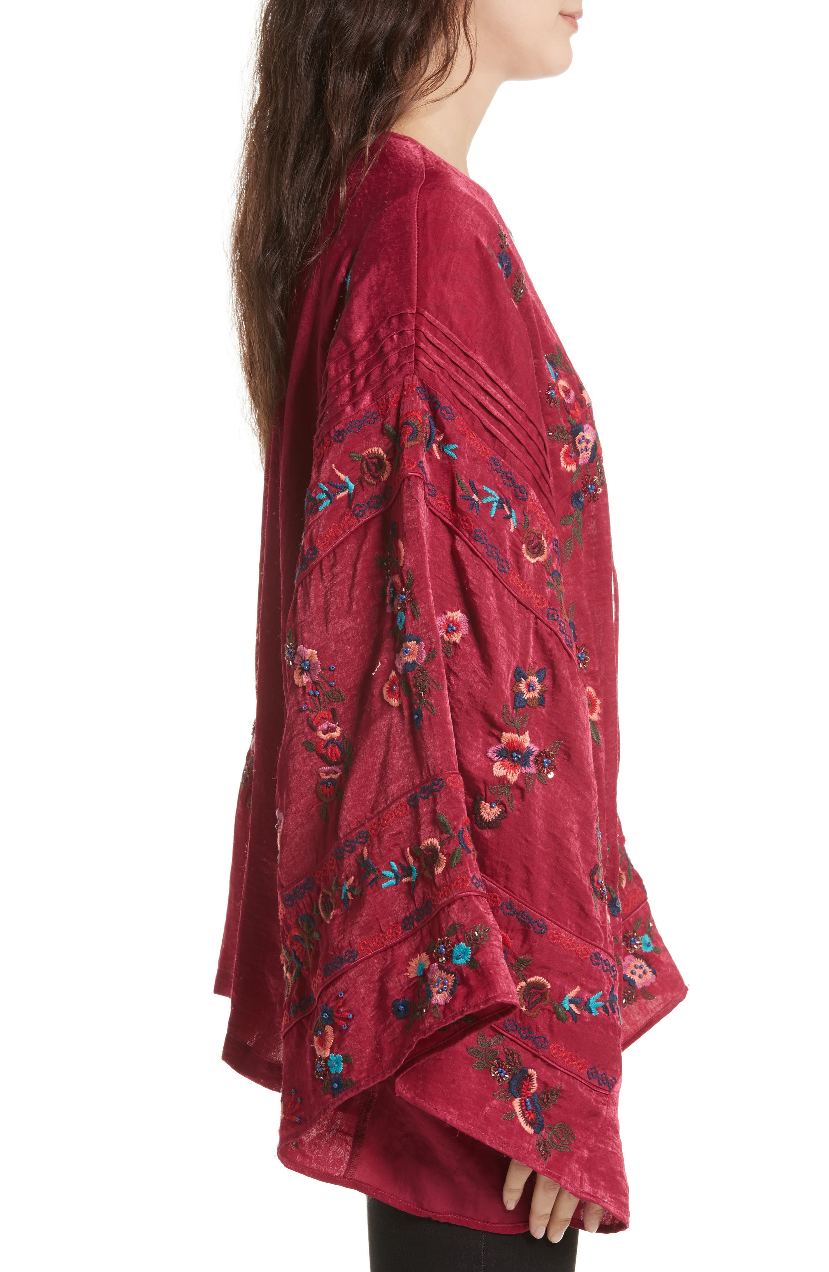 Ariel Kimono,                             Alternate thumbnail 3, color,                             Raspberry