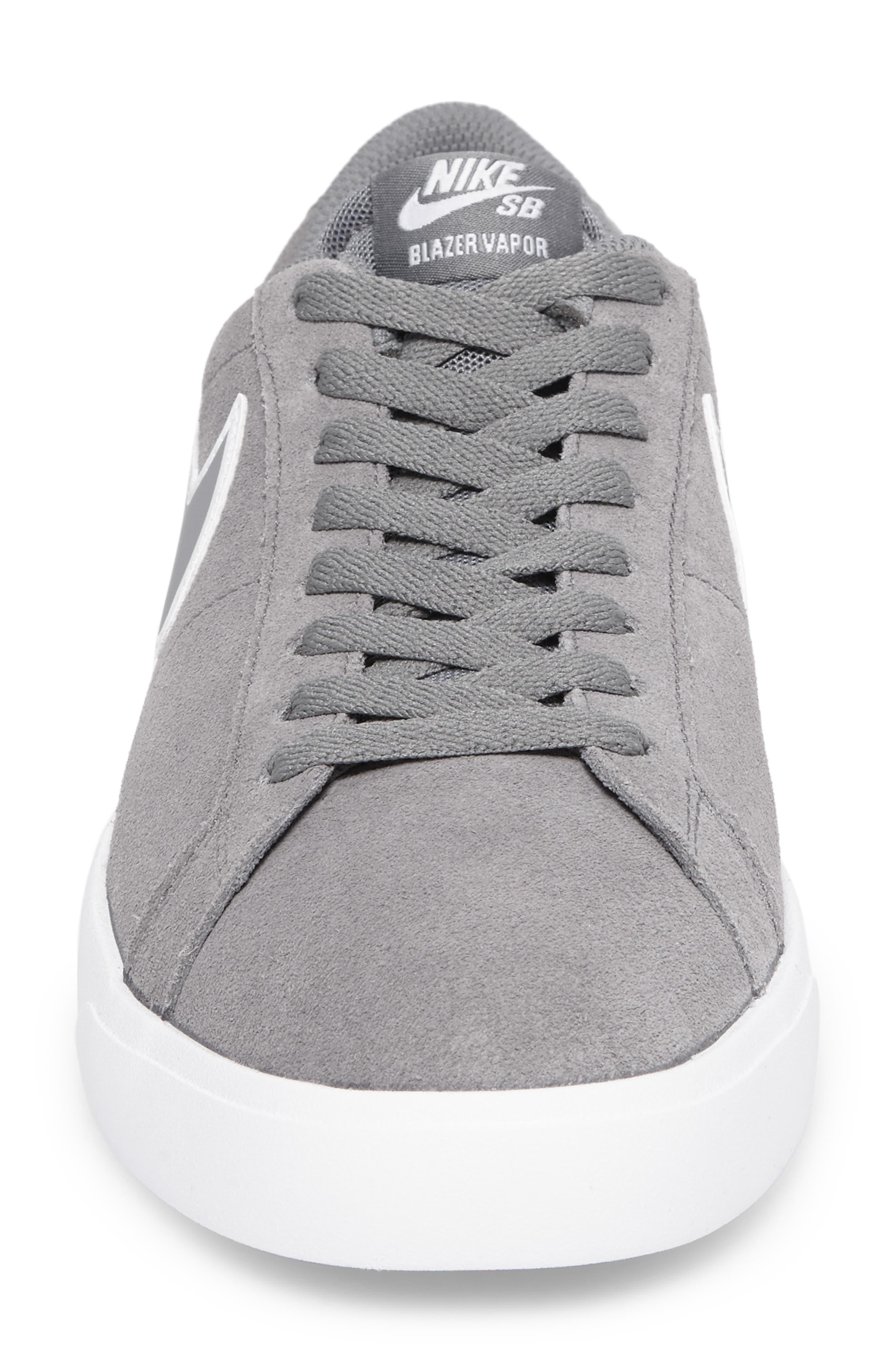 SB Blazer Vapor Skateboarding Sneaker,                             Alternate thumbnail 4, color,                             Cool Grey/Cool Grey/White