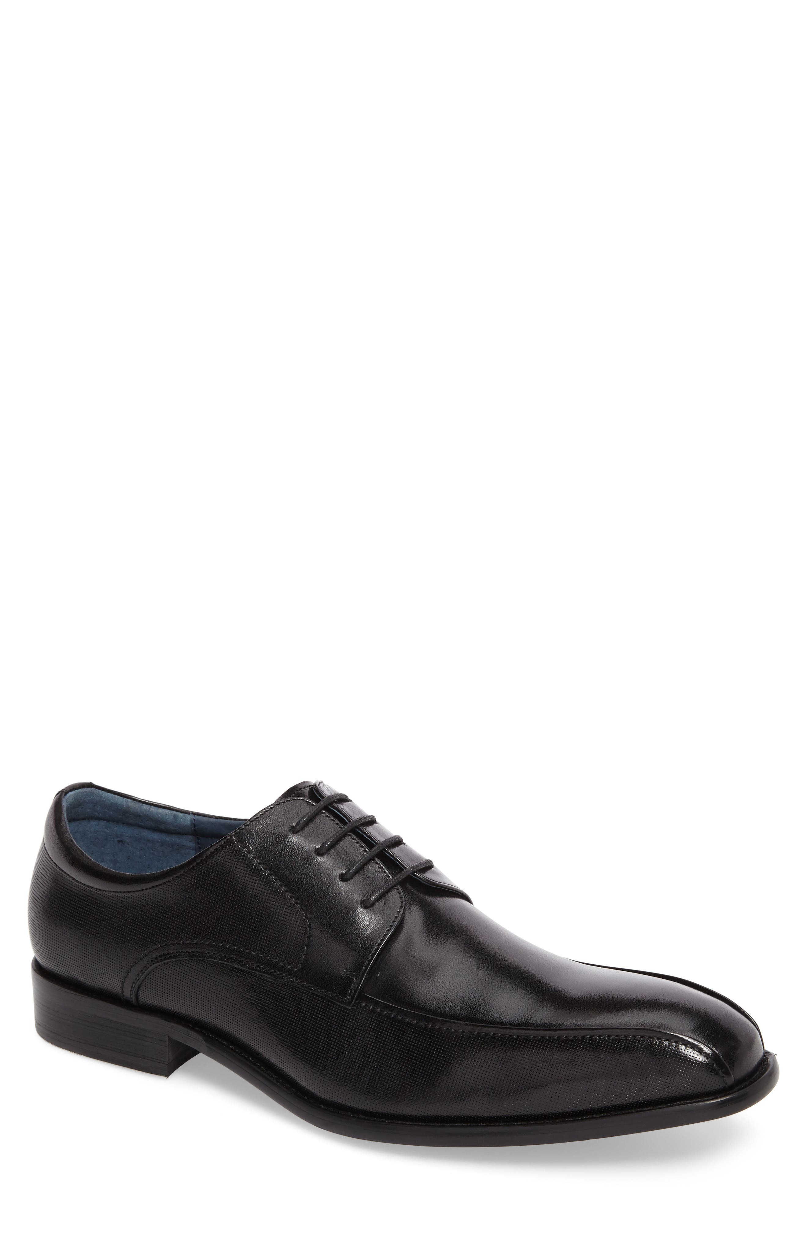 Julius Bike Toe Derby,                         Main,                         color, Black Leather