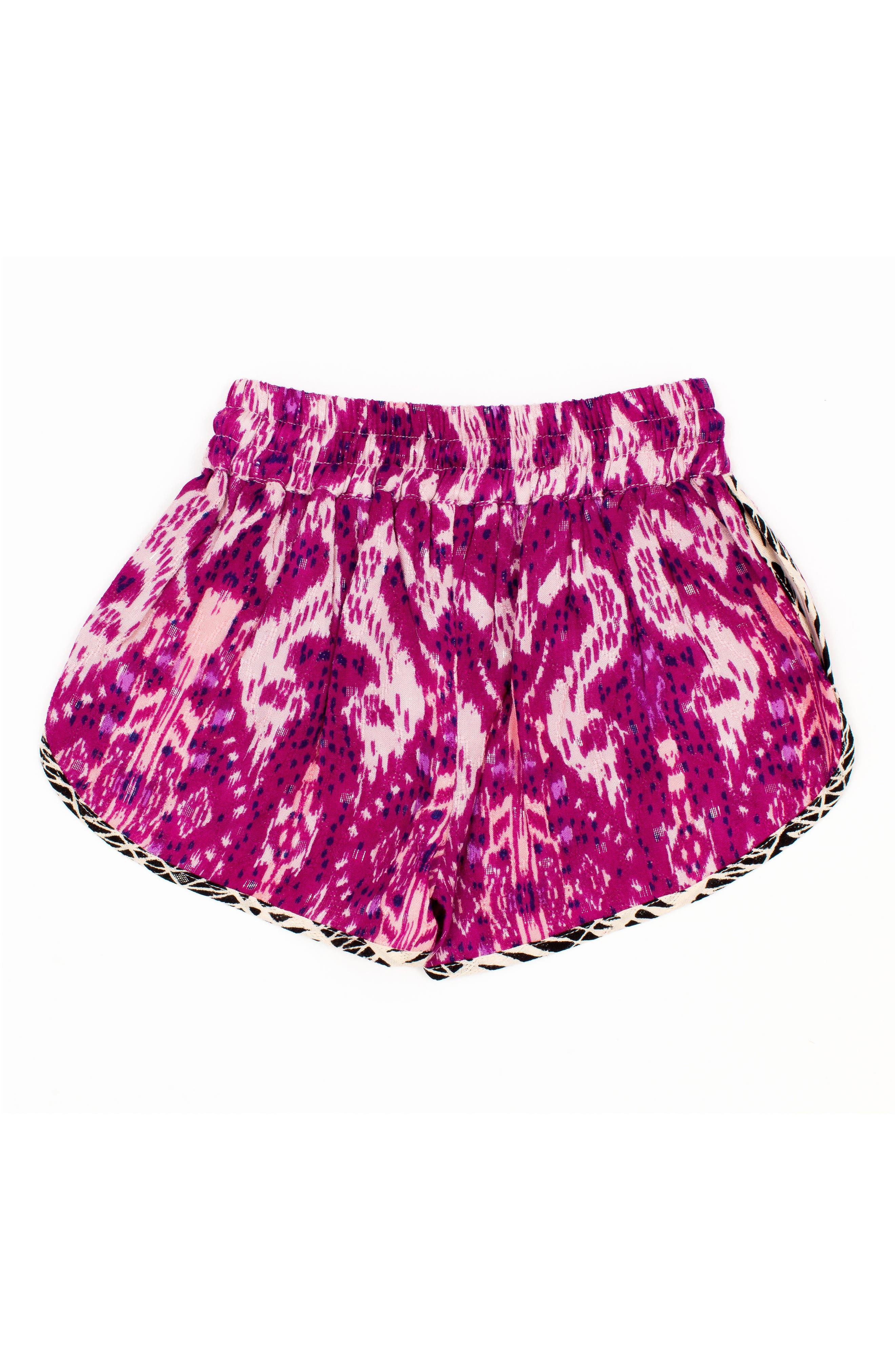 Print Shorts,                             Alternate thumbnail 2, color,                             Magenta