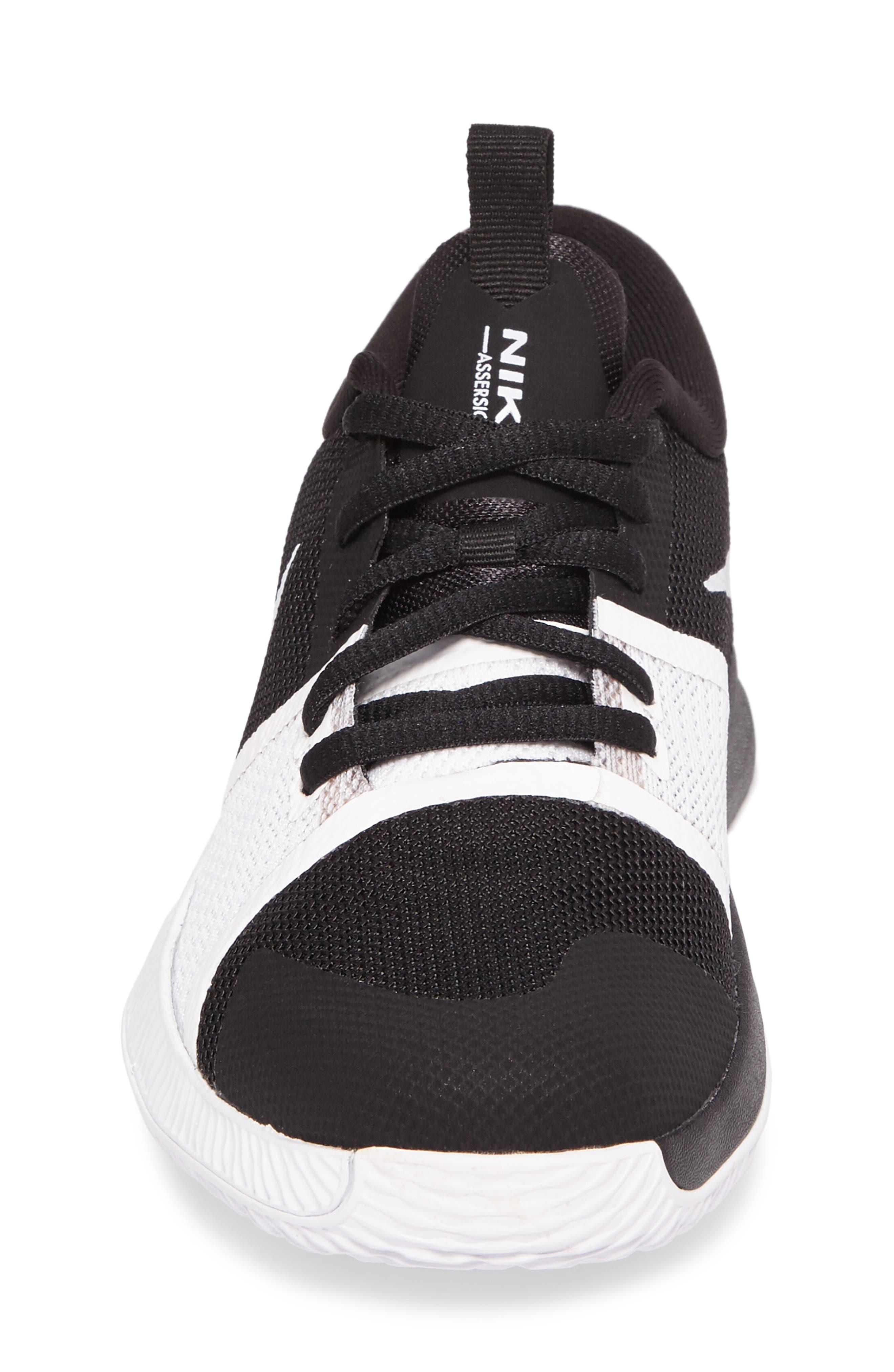 Assersion Sneaker,                             Alternate thumbnail 4, color,                             Black/ White