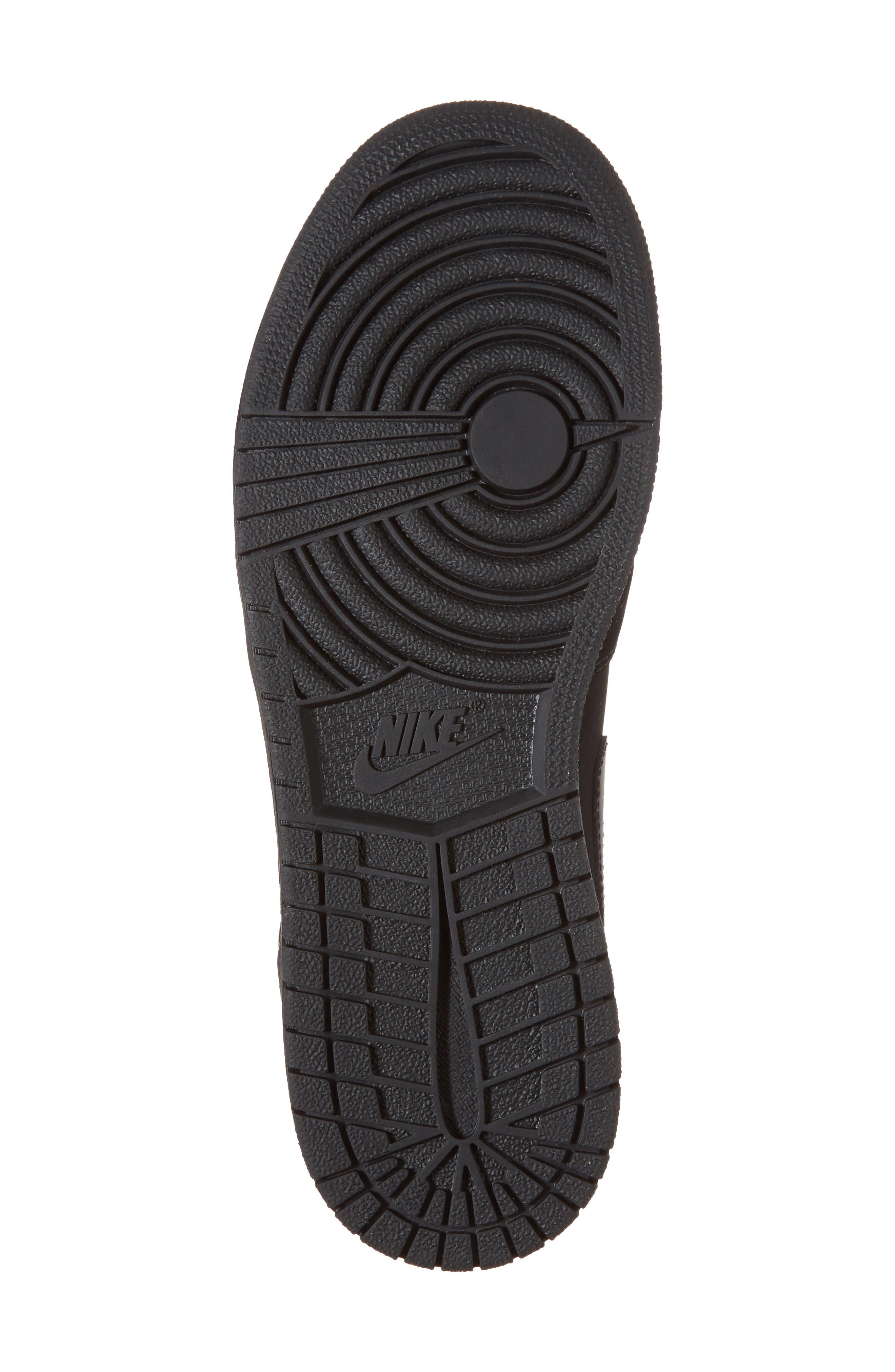 Nike 'Air Jordan 1 Mid' Sneaker,                             Alternate thumbnail 6, color,                             Black