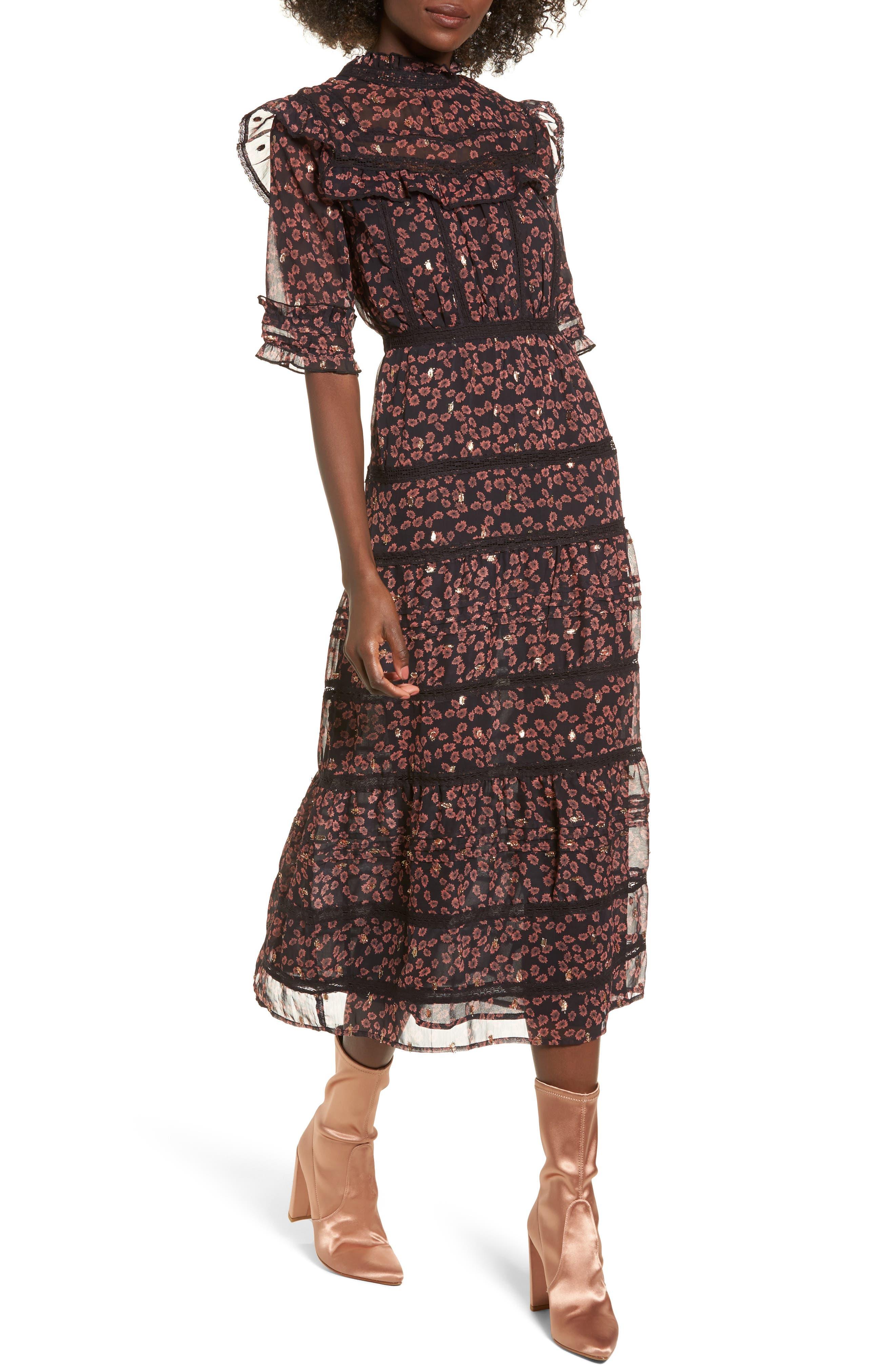 Topshop Ruffle Tier Maxi Dress