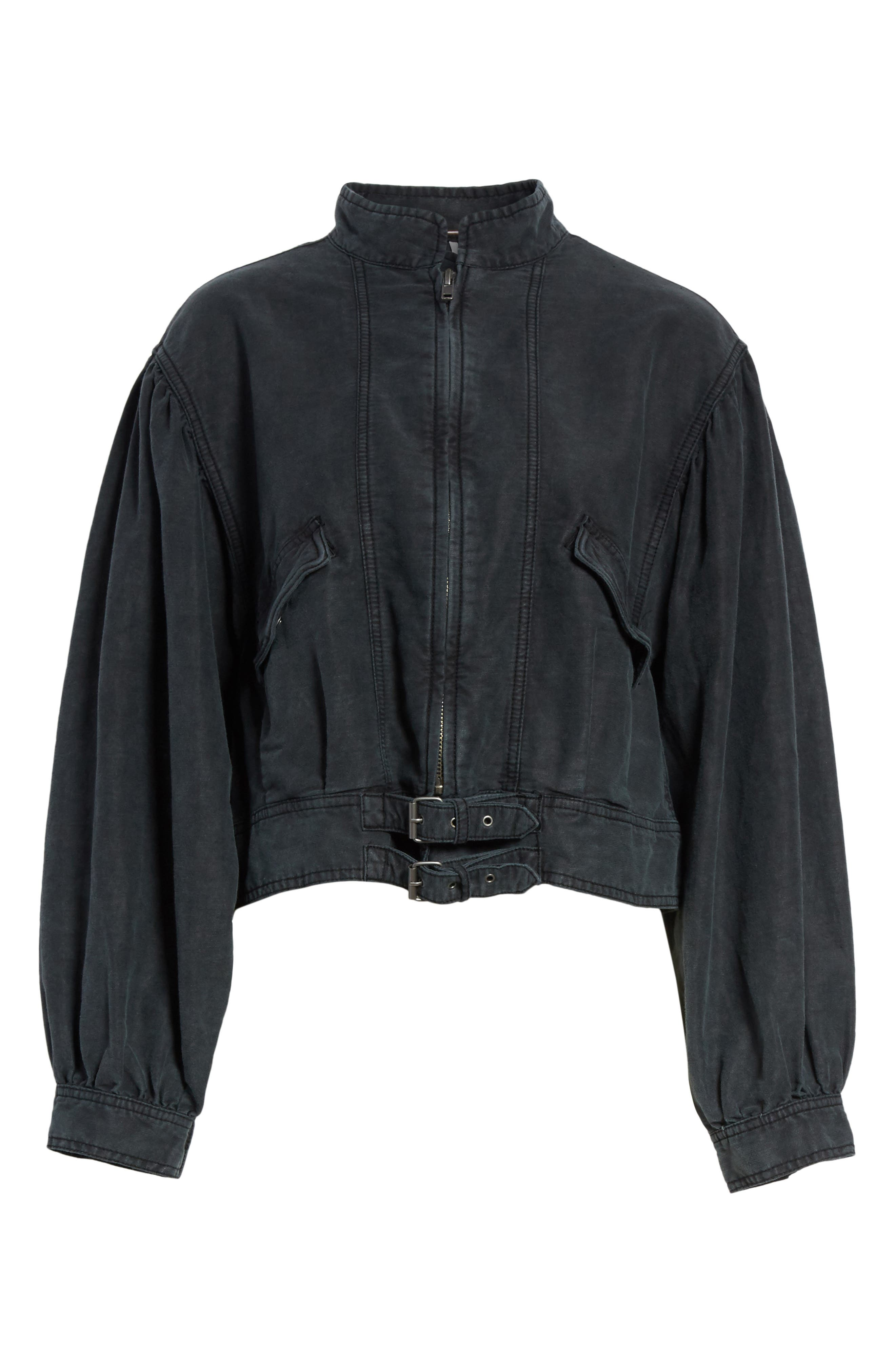 Poet Jacket,                             Alternate thumbnail 6, color,                             Black