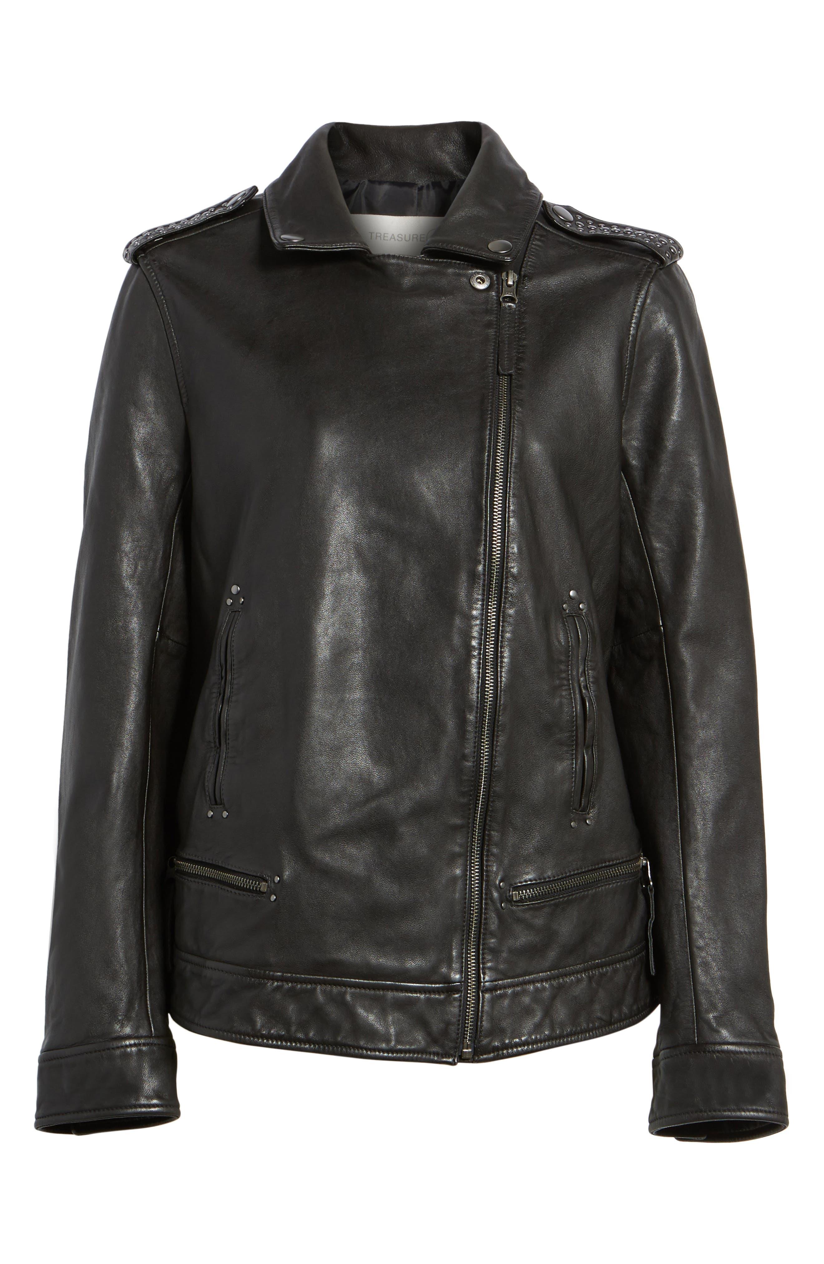 Alternate Image 6  - Treasure & Bond Studded Leather Jacket