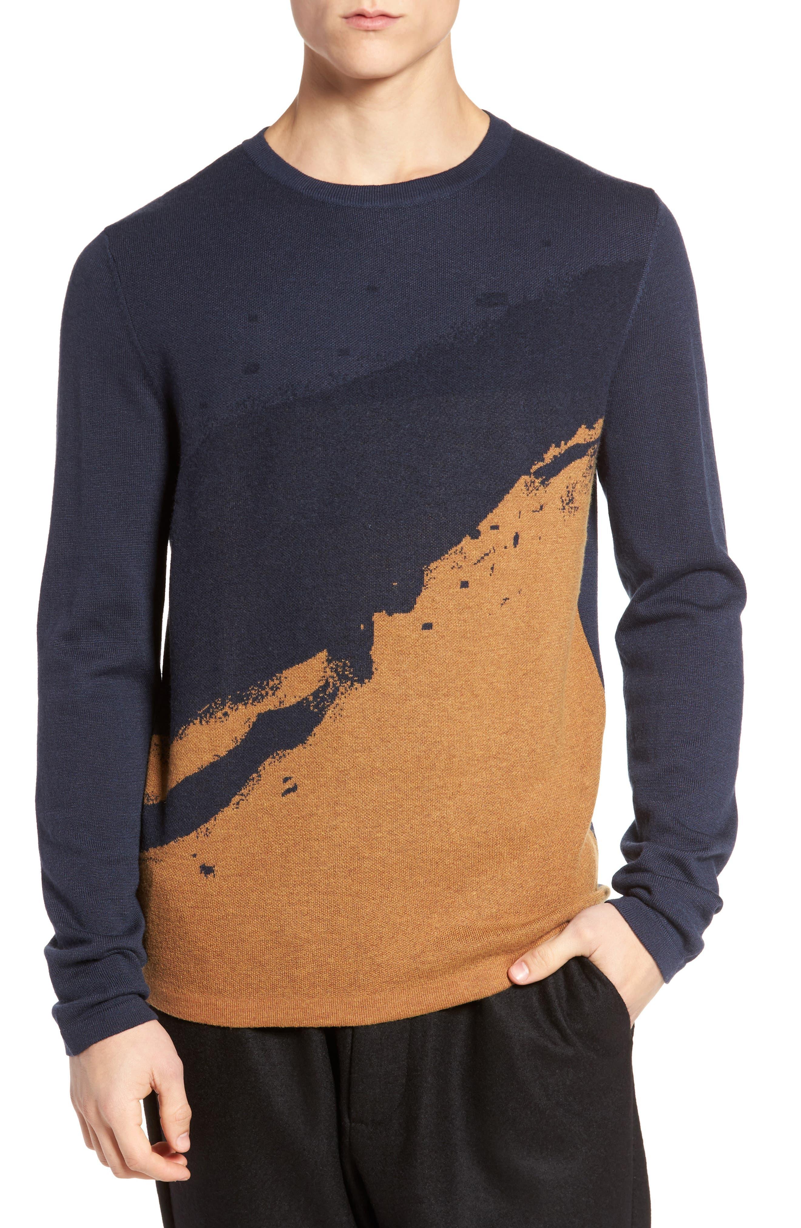 Anotny Morato Pattern Sweater,                             Main thumbnail 1, color,                             Soft Blue