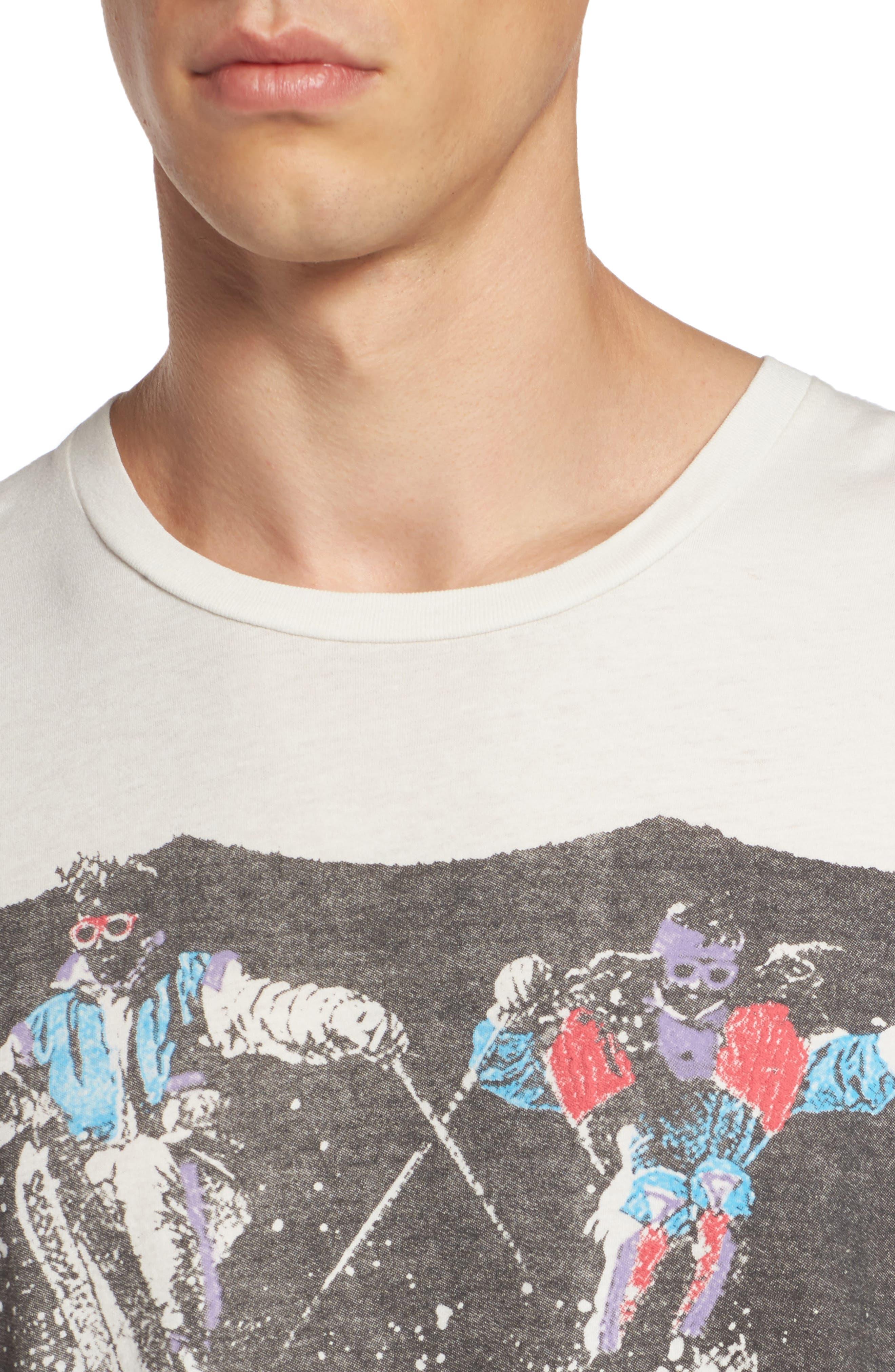 Pow Pow Crew Graphic T-Shirt,                             Alternate thumbnail 4, color,                             Dirty White