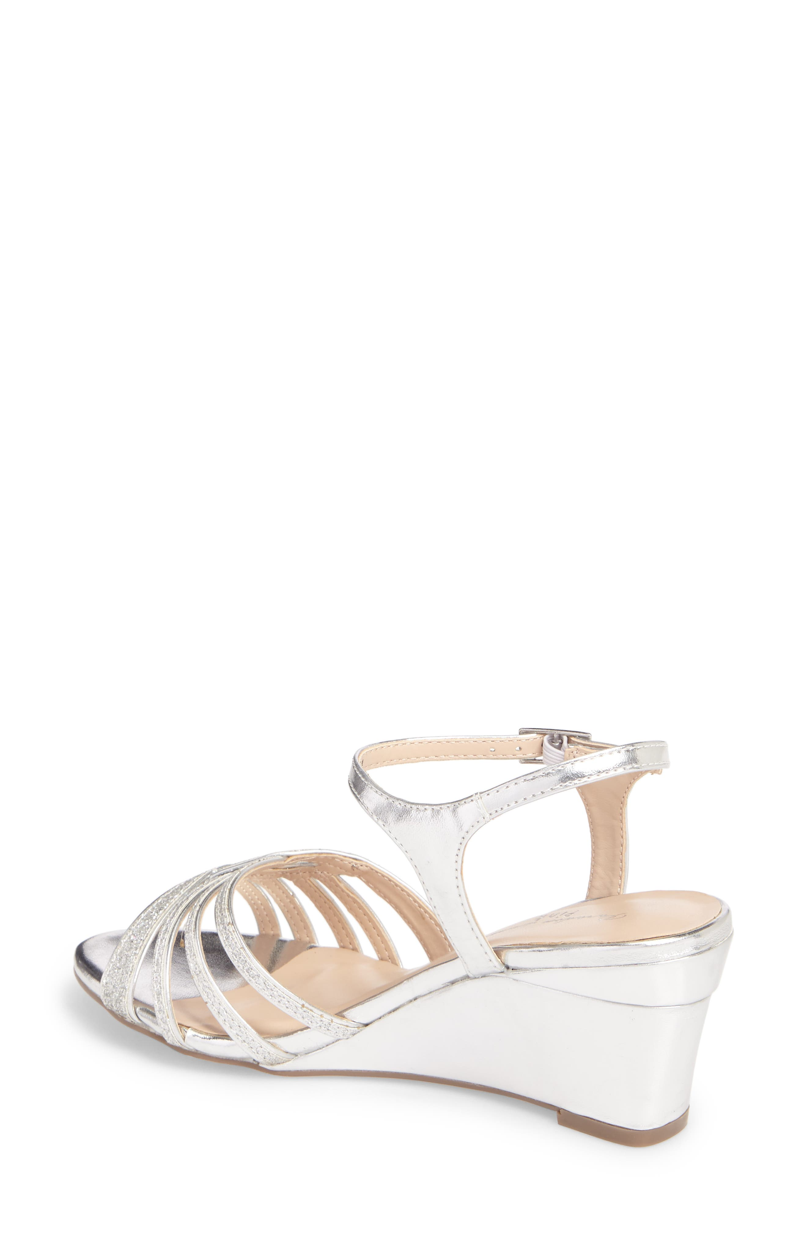 Karianne Wedge Sandal,                             Alternate thumbnail 2, color,                             Silver