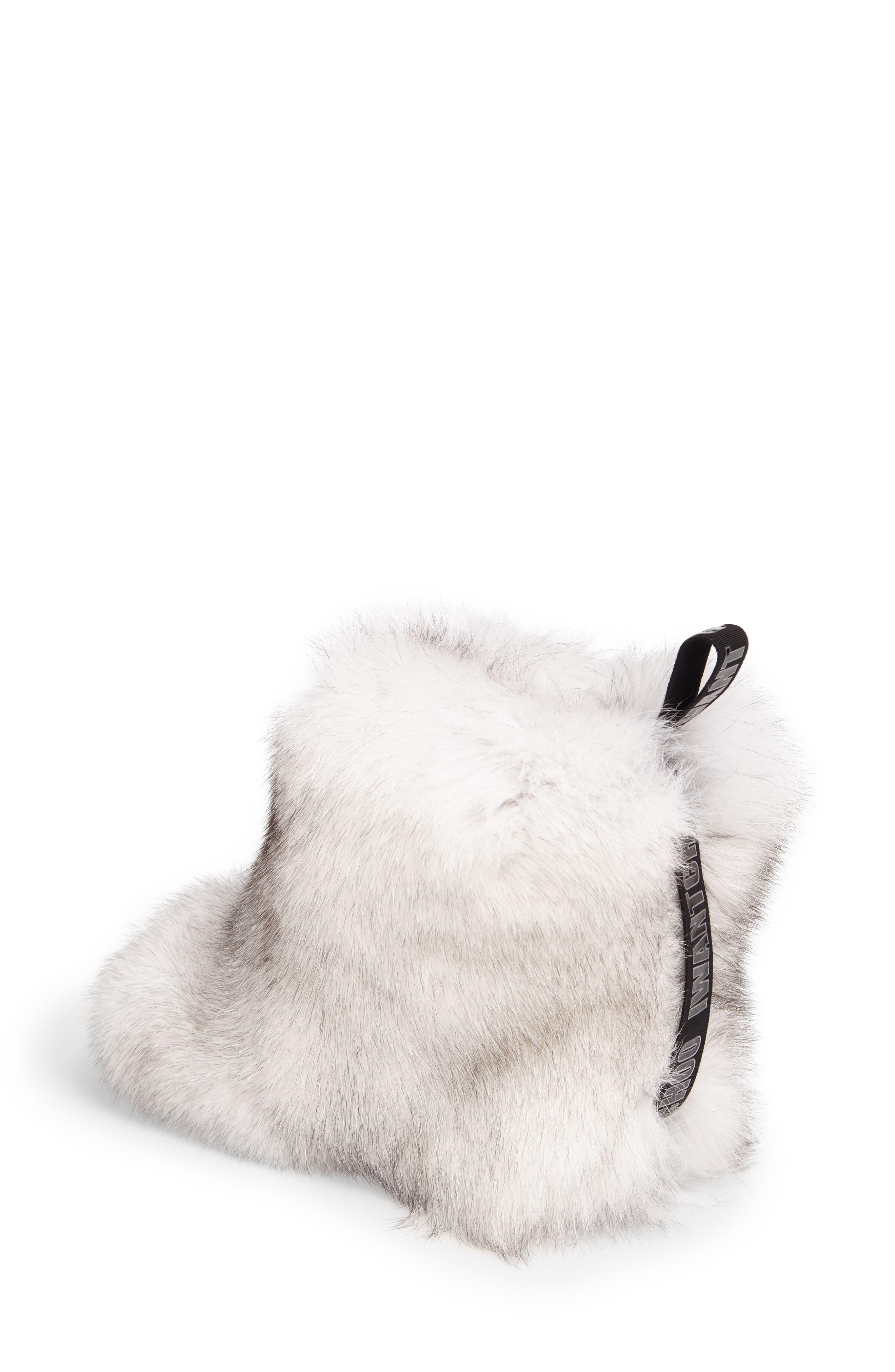 Dalton Genuine Fox & Rabbit Fur Bootie,                             Alternate thumbnail 2, color,                             White