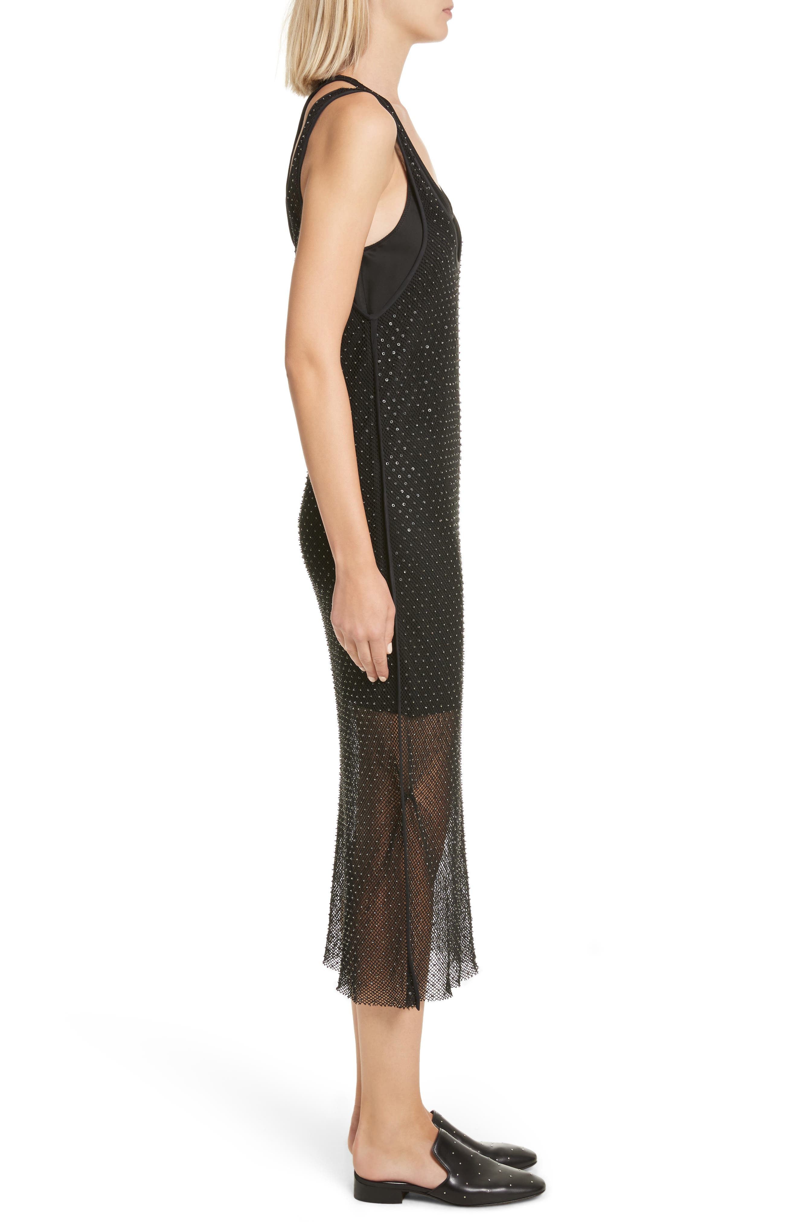 Alternate Image 3  - rag & bone Terry Beaded Mesh Tank Dress
