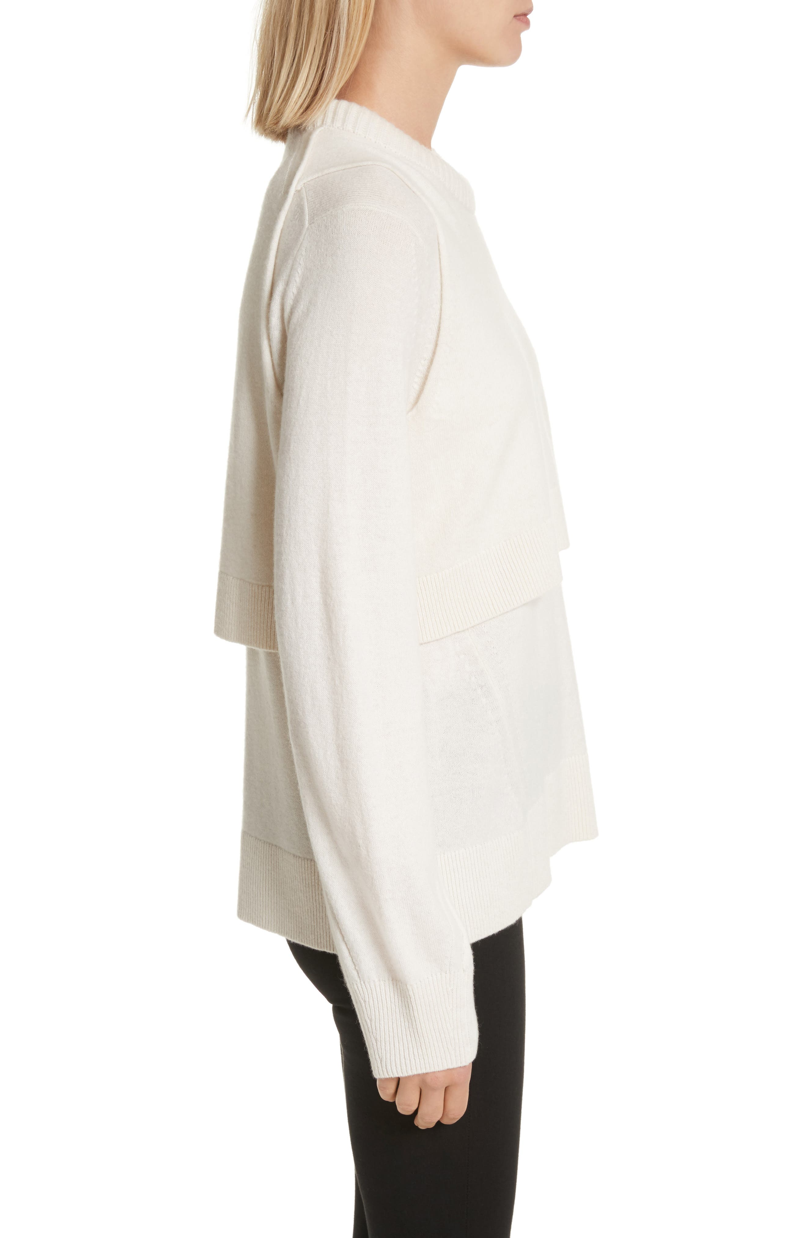 Preston Cashmere Crewneck Sweater,                             Alternate thumbnail 3, color,                             Ivory