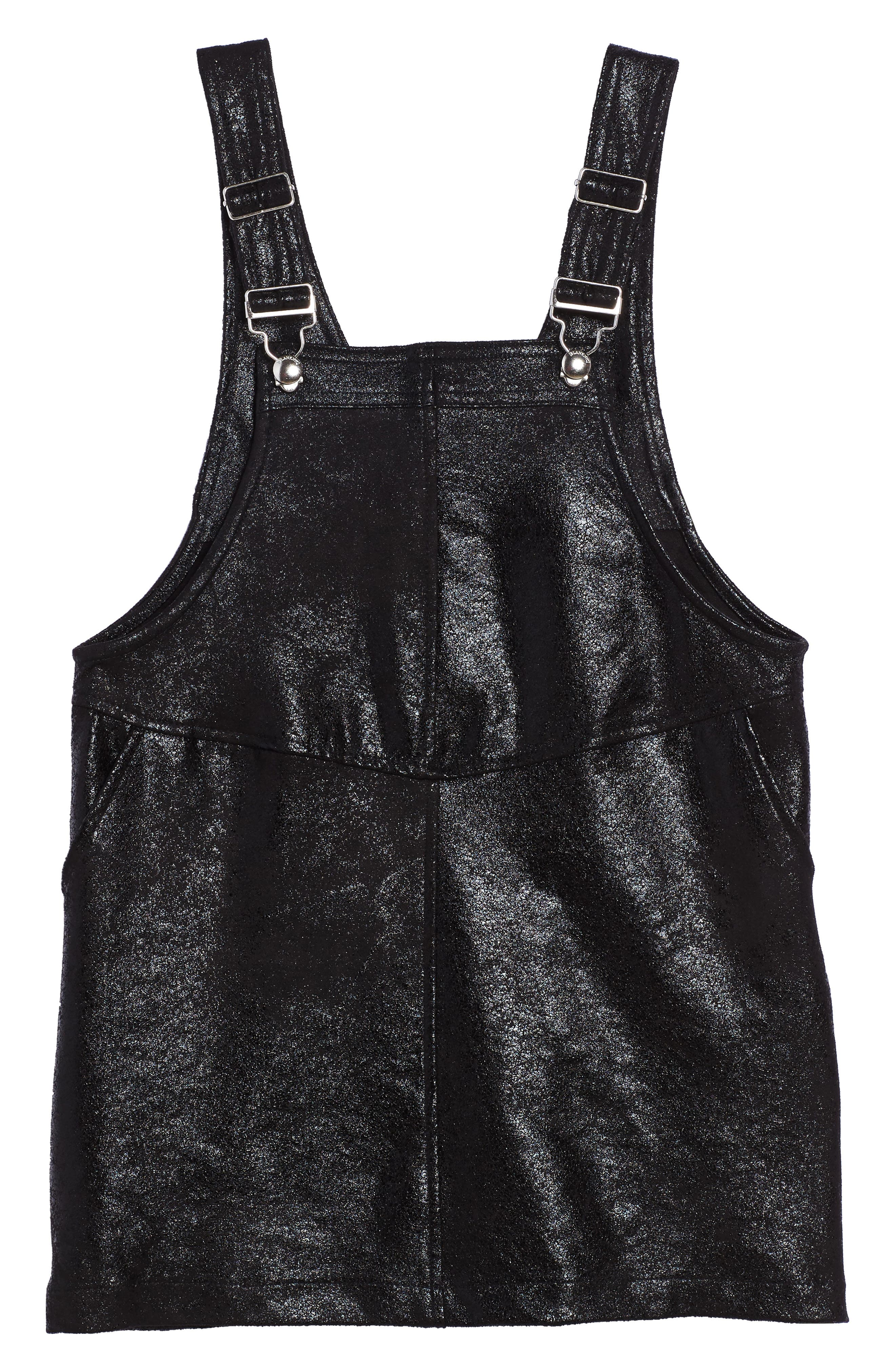 Main Image - BLANKNYC Overall Dress (Big Girls)
