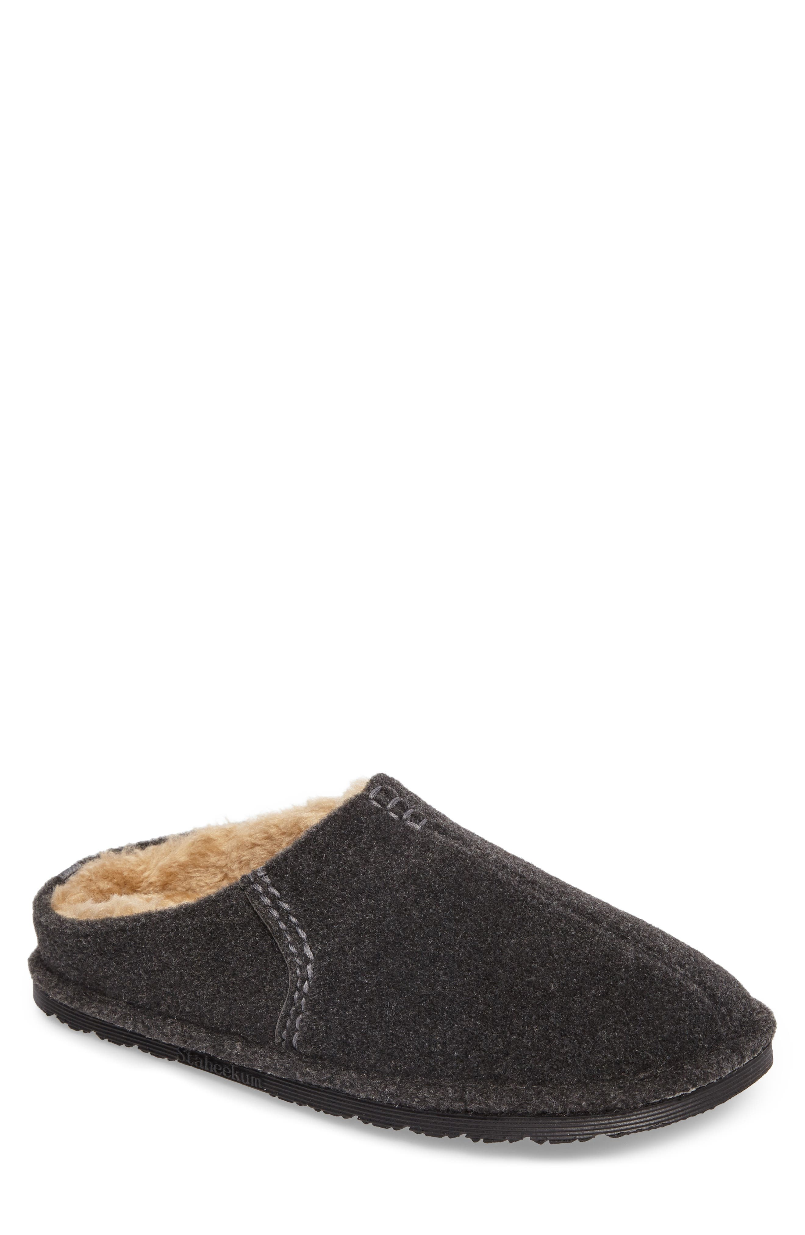 Timber Scuff Slipper,                             Main thumbnail 1, color,                             Charcoal Felt/ Polyester