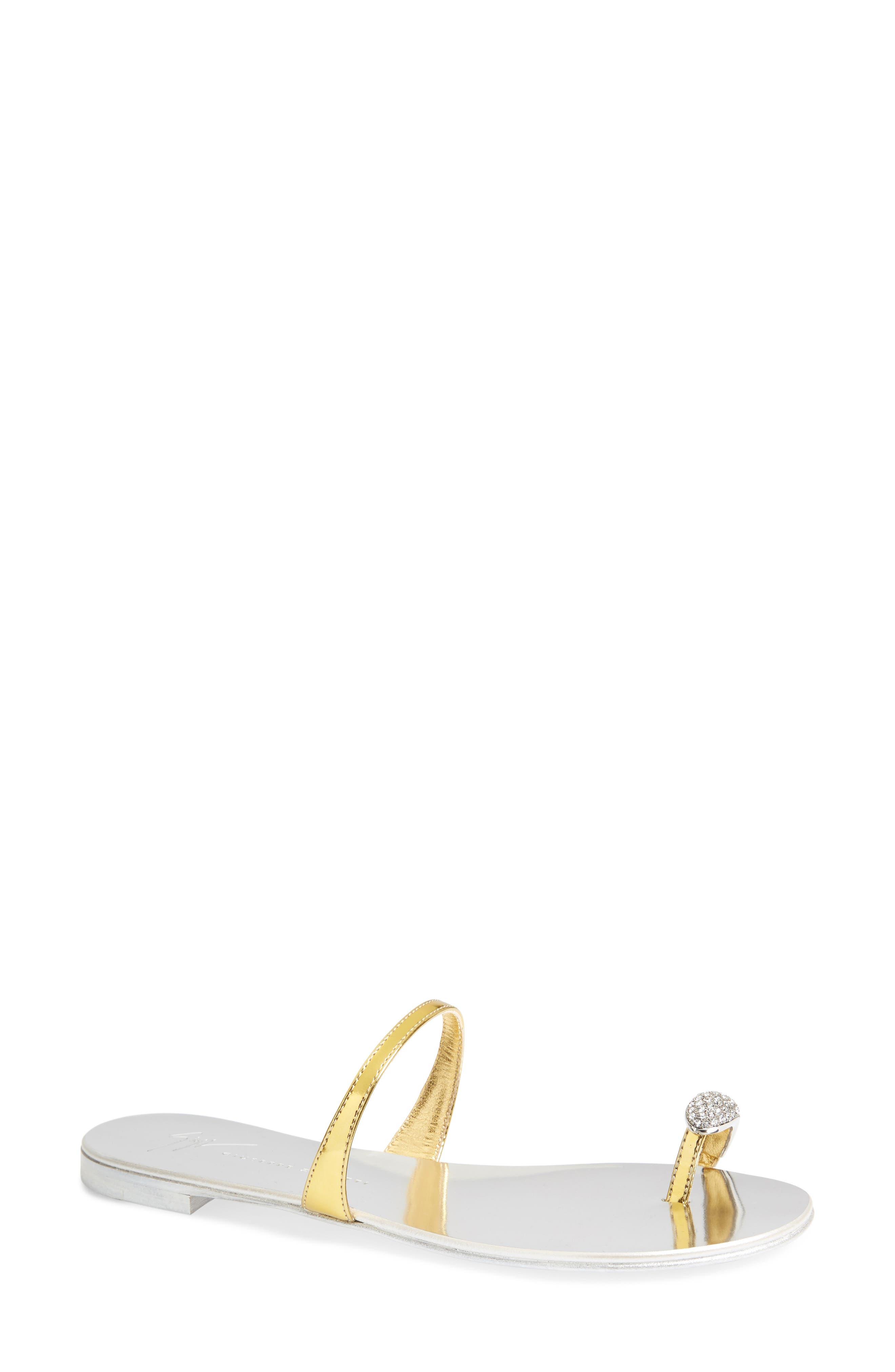 Giuseppe Zanotti Nuvorock Crystal Embellished Toe Loop Sandal (Women)