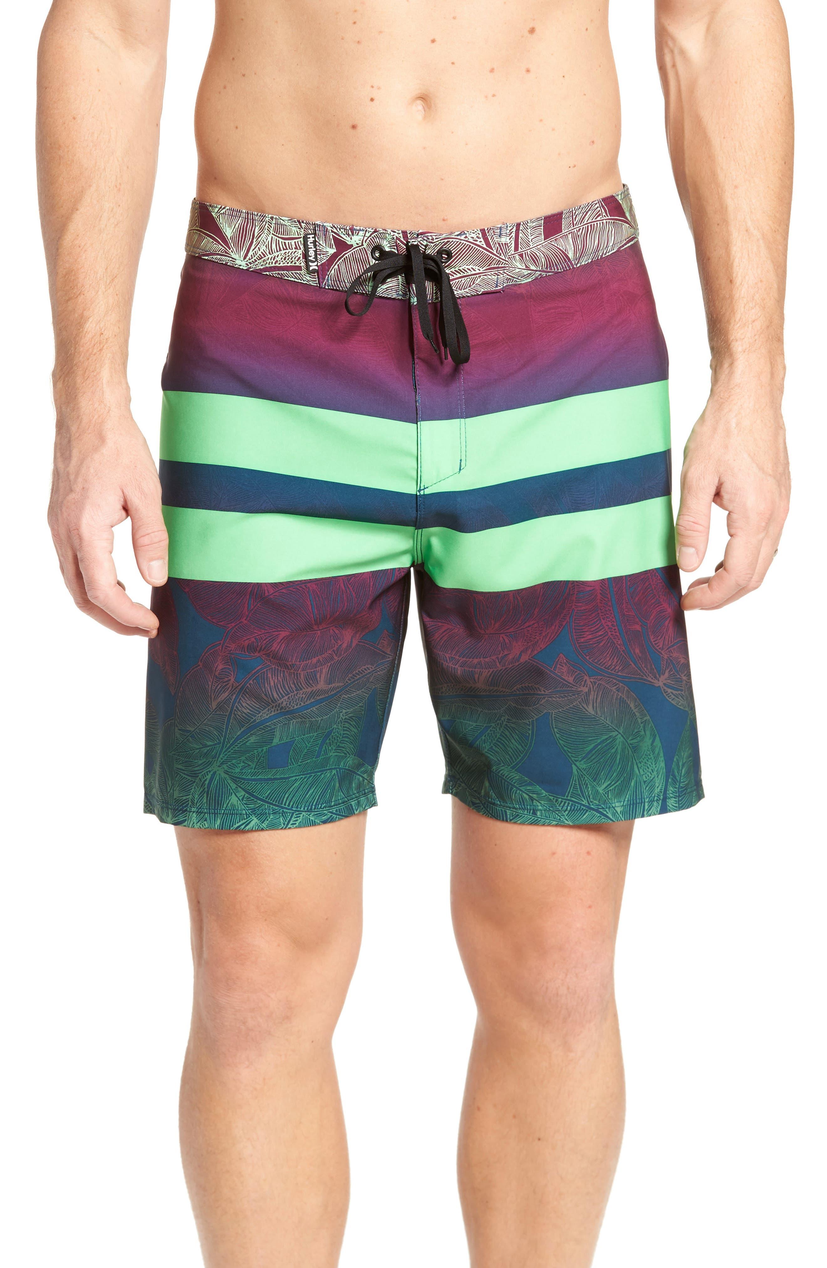 Phantom Blackball Board Shorts,                         Main,                         color, Rage Green