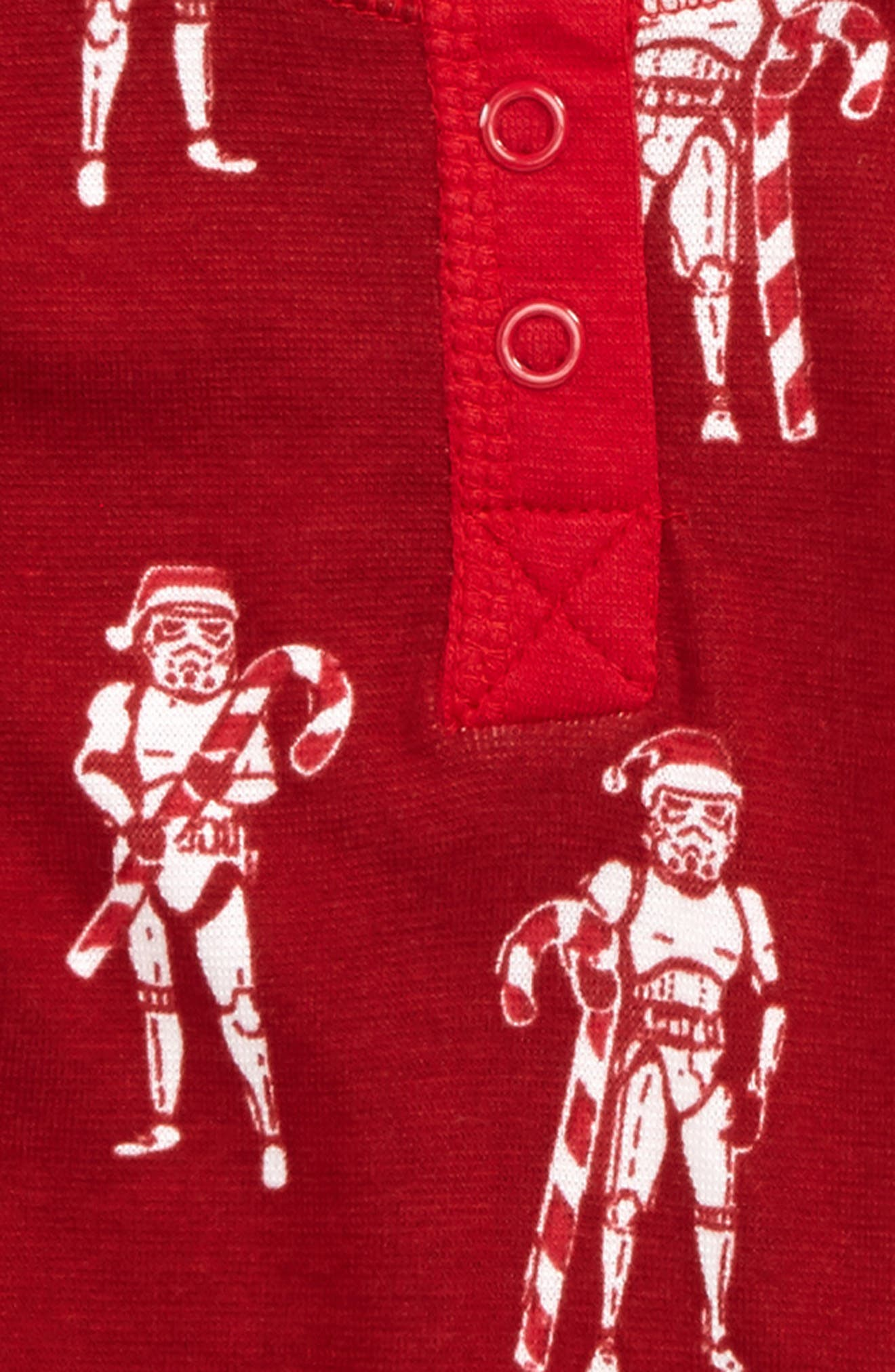 Star Wars<sup>™</sup> - Stormtroopers Fitted Two-Piece Pajamas,                             Alternate thumbnail 2, color,                             Red Storm Troopers