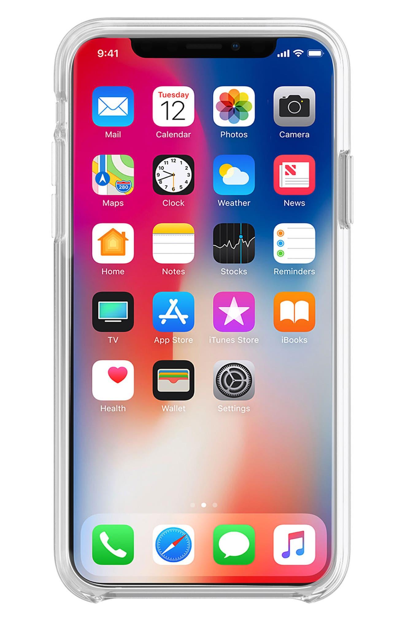 Glitterfall iPhone 8 Plus Case,                             Alternate thumbnail 5, color,                             Mini Pearls/ Heart Confetti