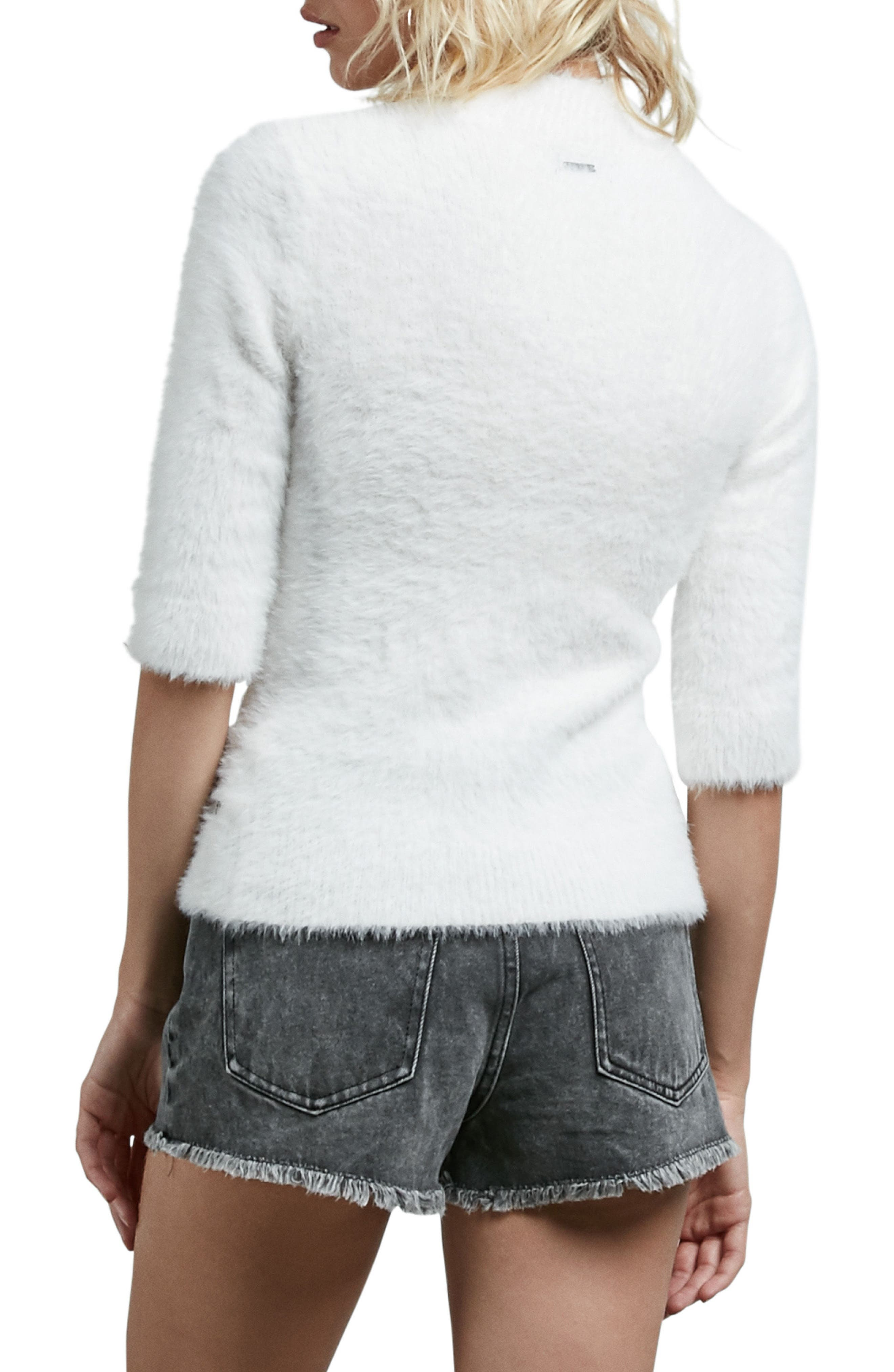 Bunney Riot Sweater,                             Alternate thumbnail 2, color,                             Star Wht