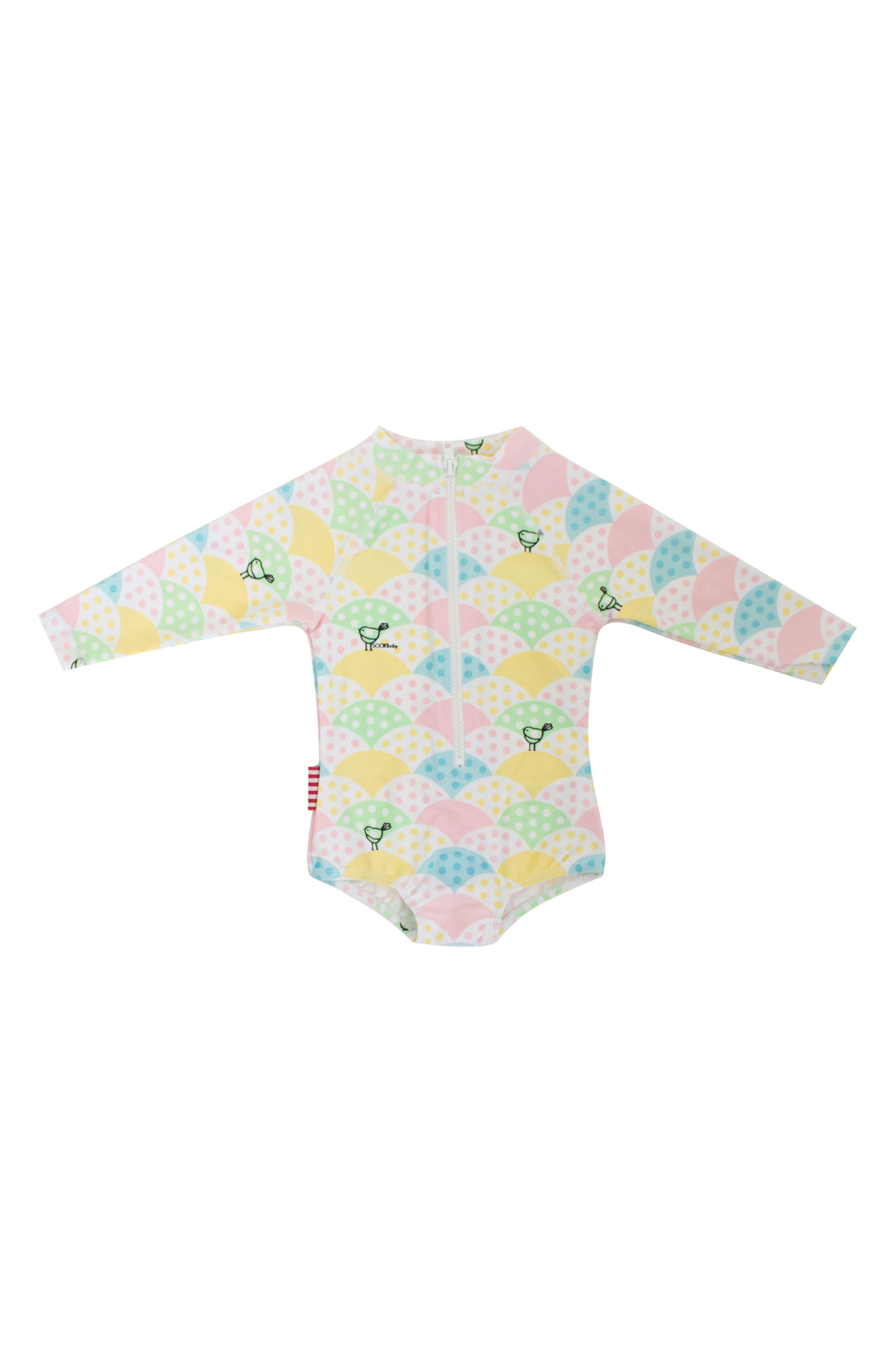 SOOKIbaby Spotty My Dotty One-Piece Rashguard Swimsuit (Baby Girls)