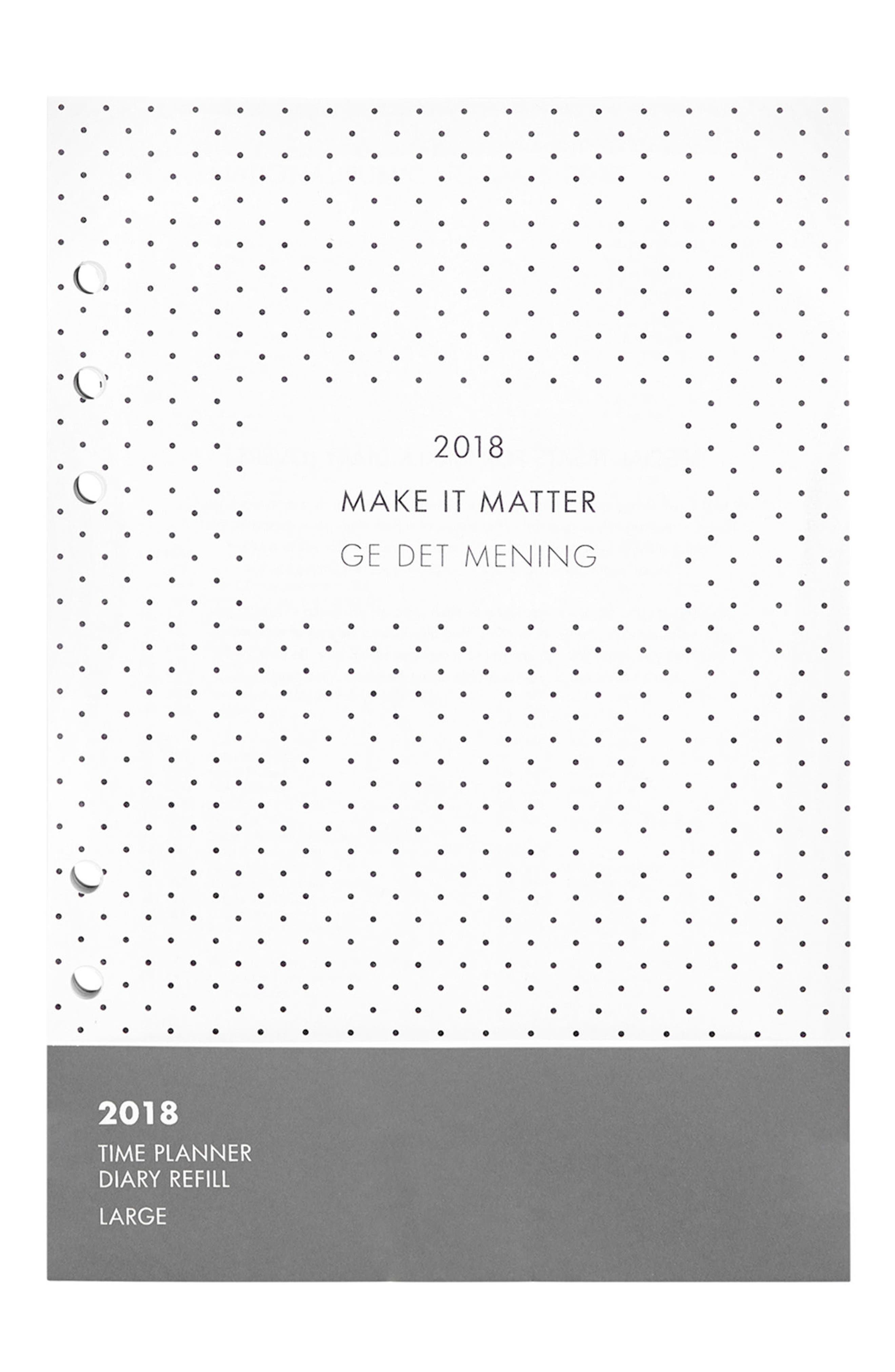 2018 Large Planner Refill Pack,                             Main thumbnail 1, color,                             White