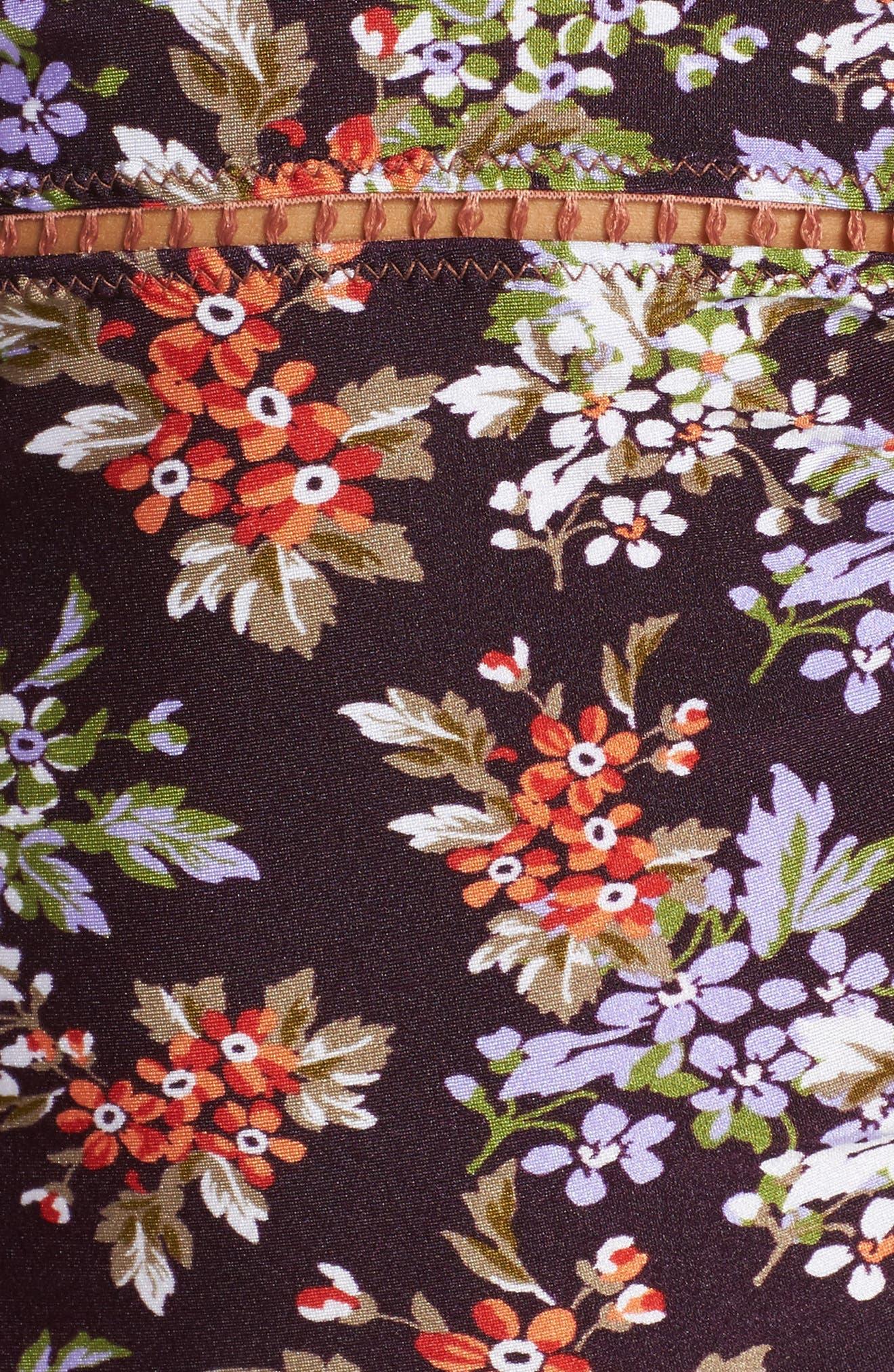 Floral Cottage Tankini Top,                             Alternate thumbnail 5, color,                             Plum