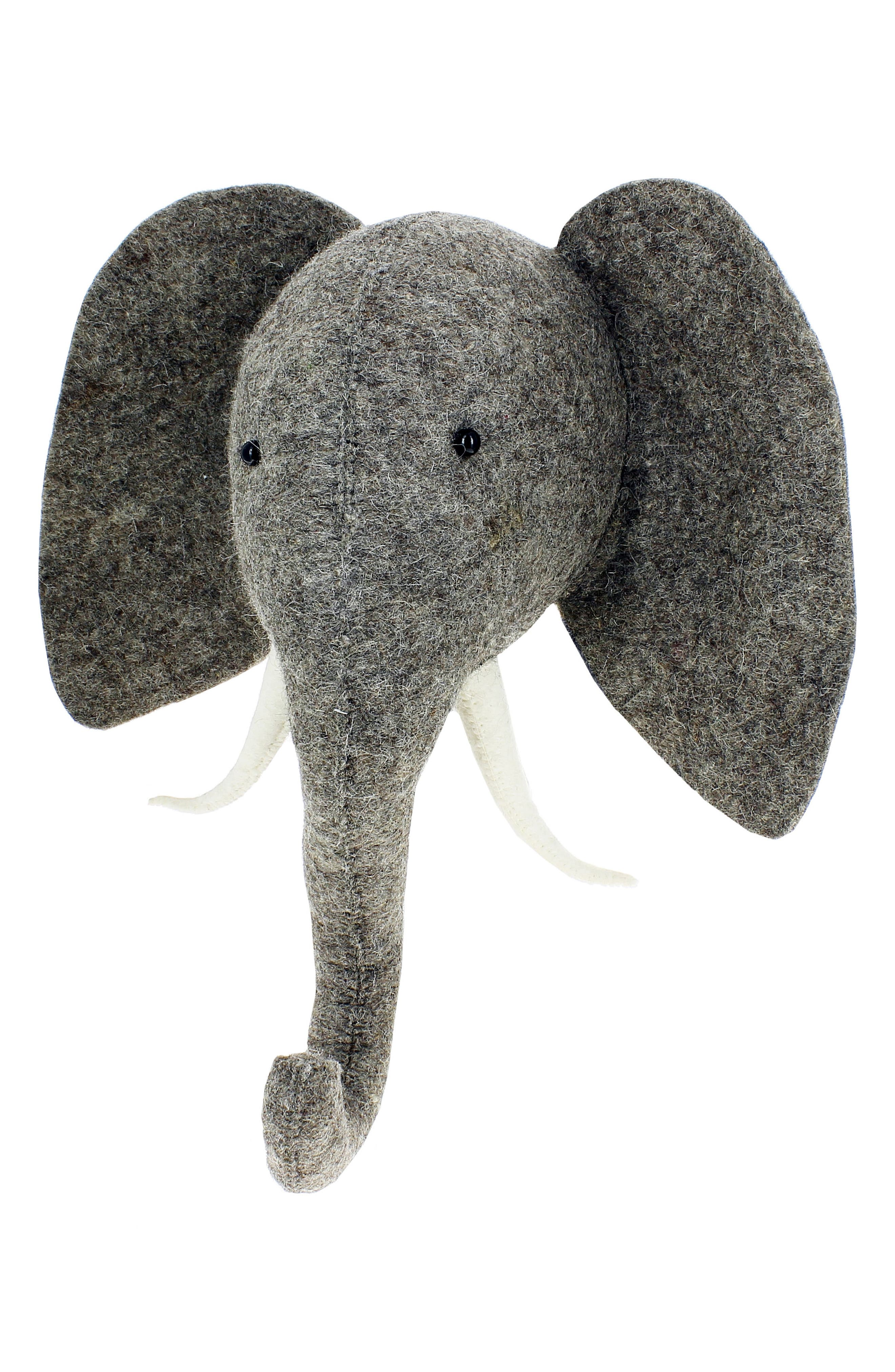 Elephant Head Wall Art,                             Alternate thumbnail 2, color,                             Grey