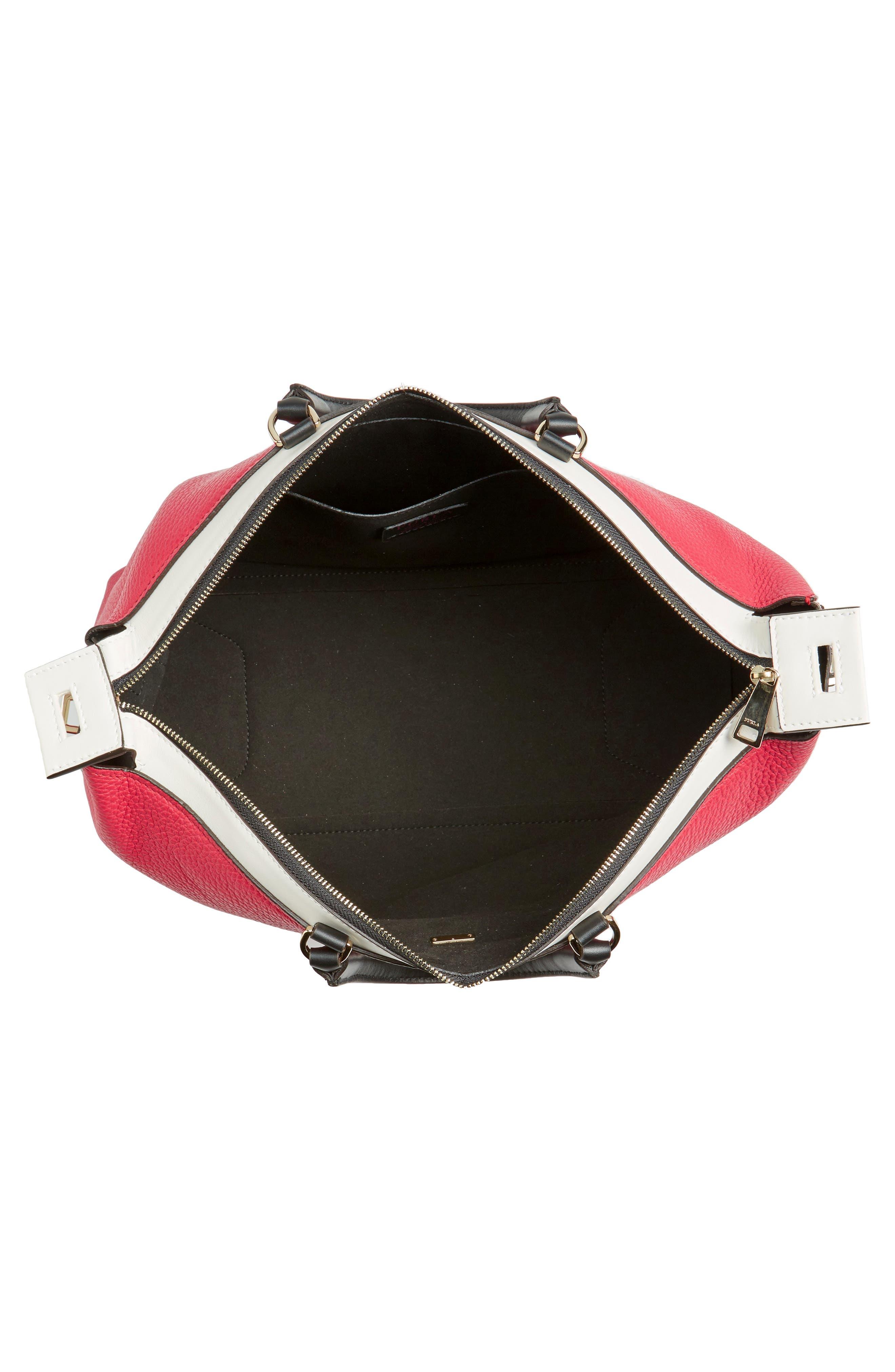 Alternate Image 4  - Furla Blogger Colorblock Leather Satchel