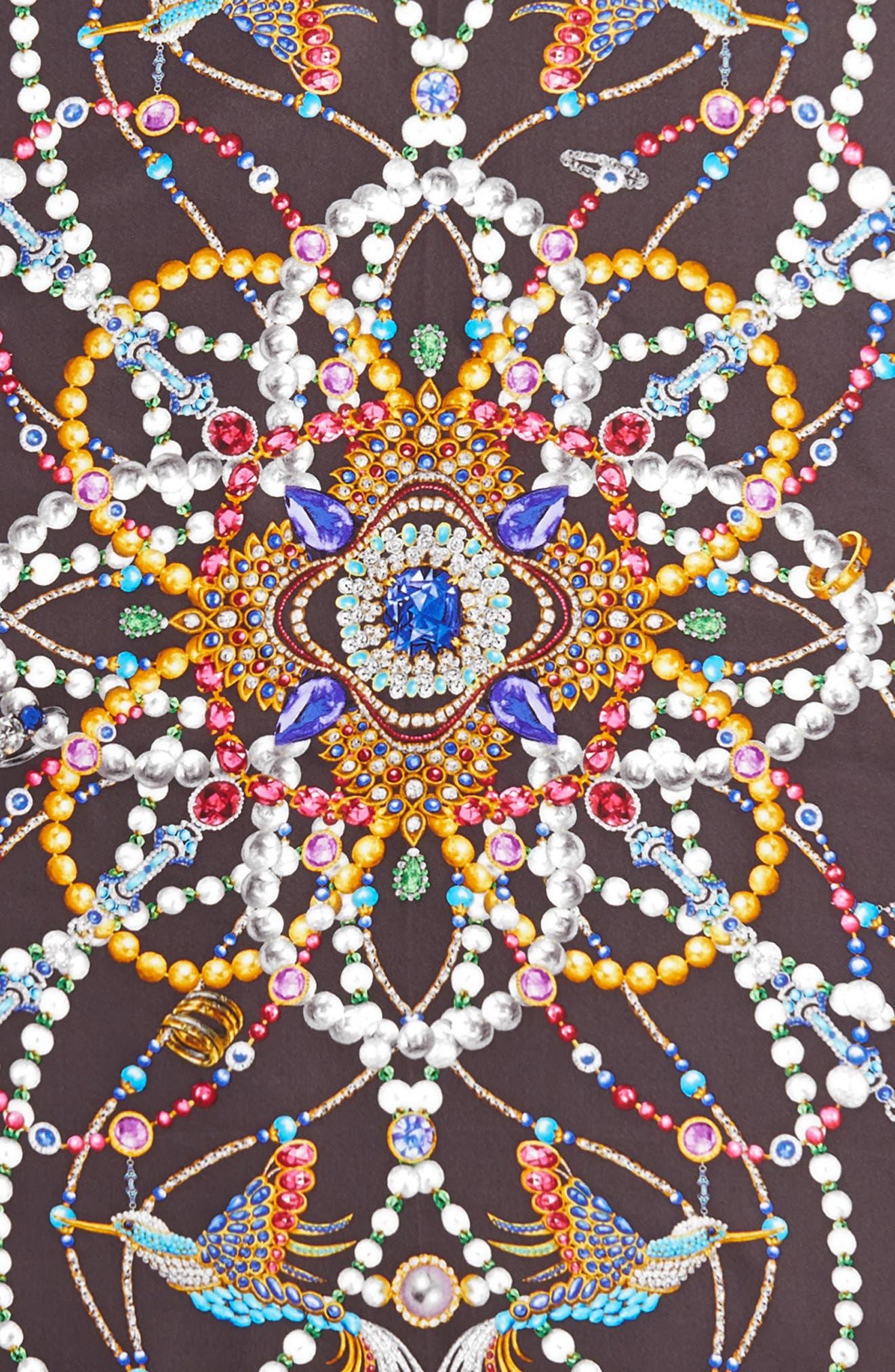 Heirloom Series Print Silk Scarf,                             Alternate thumbnail 4, color,                             Magnet