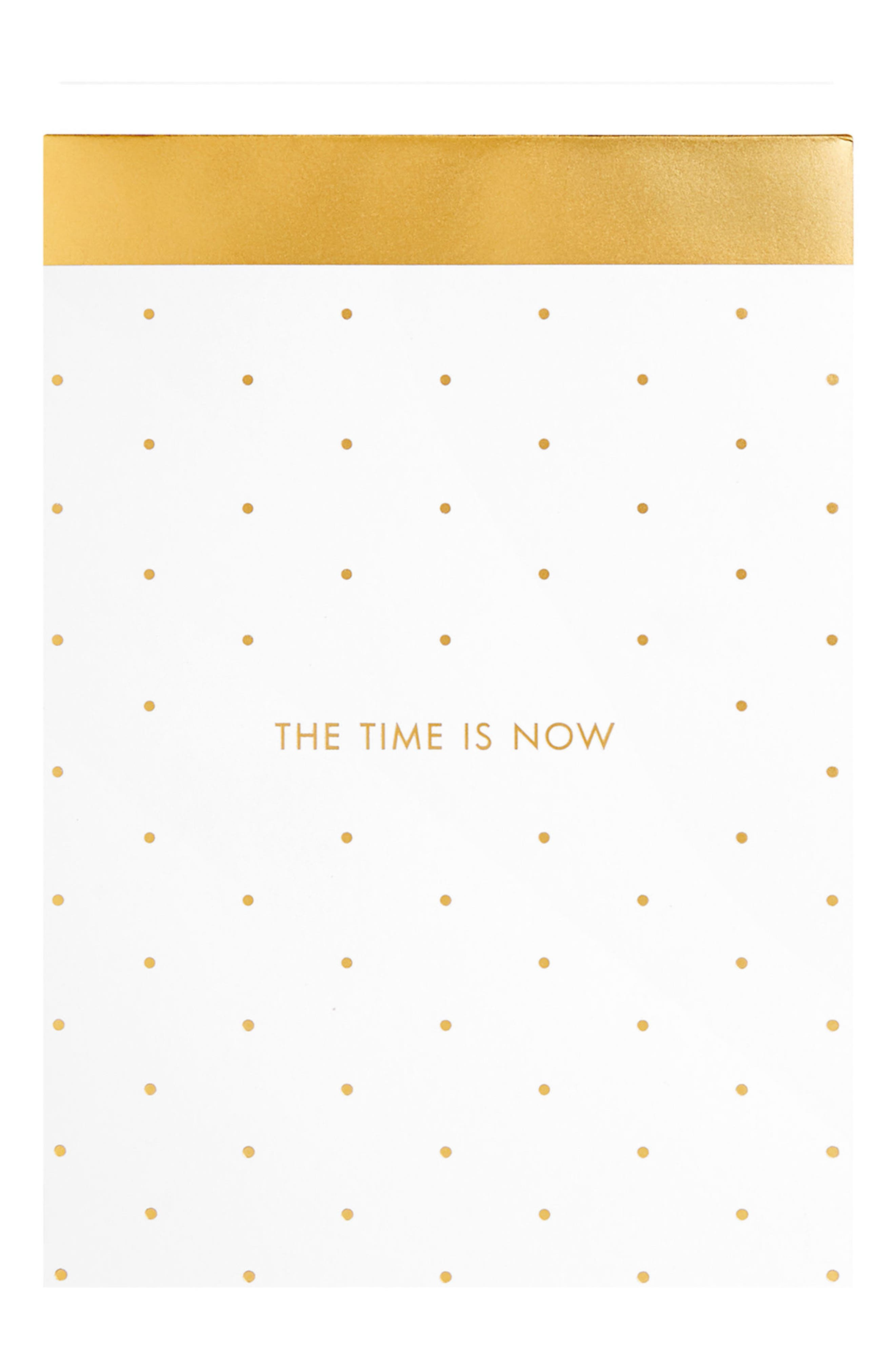 Time is Now Notepad,                             Main thumbnail 1, color,                             White/ Gold