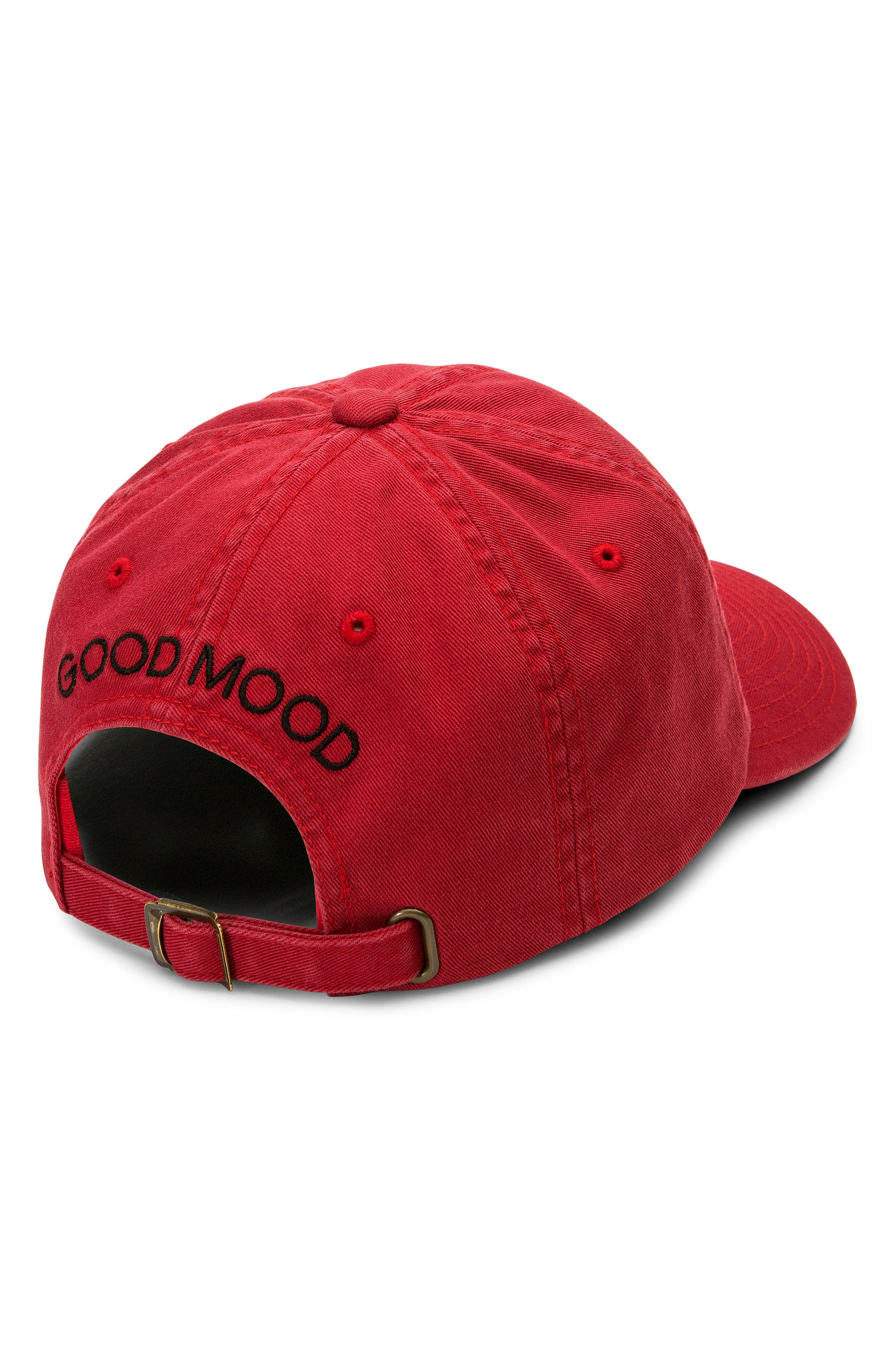 Good Mood Dad Baseball Hat,                             Alternate thumbnail 2, color,                             Red Chili
